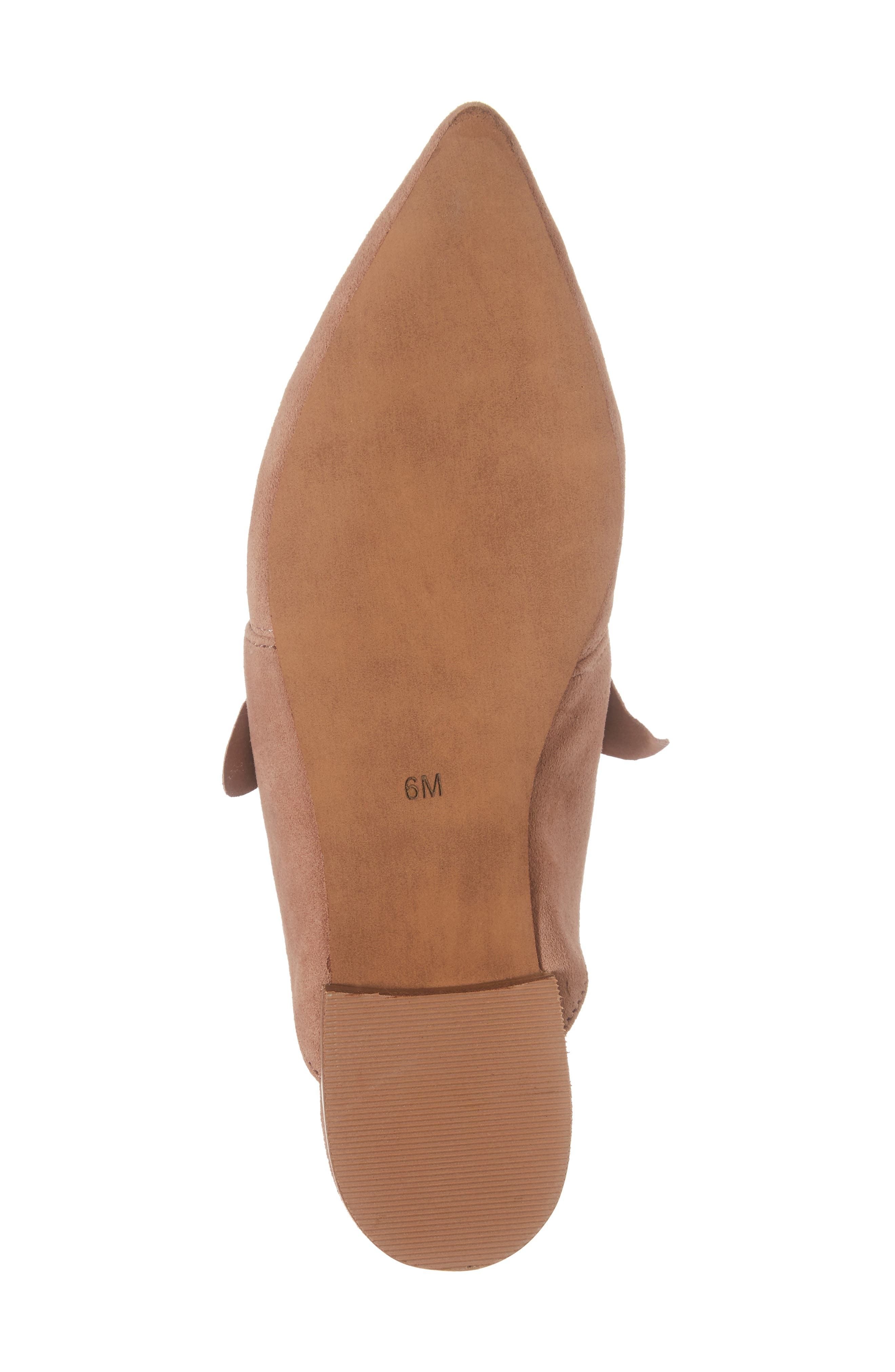 Charlin Bow Mule,                             Alternate thumbnail 6, color,                             Blush Suede