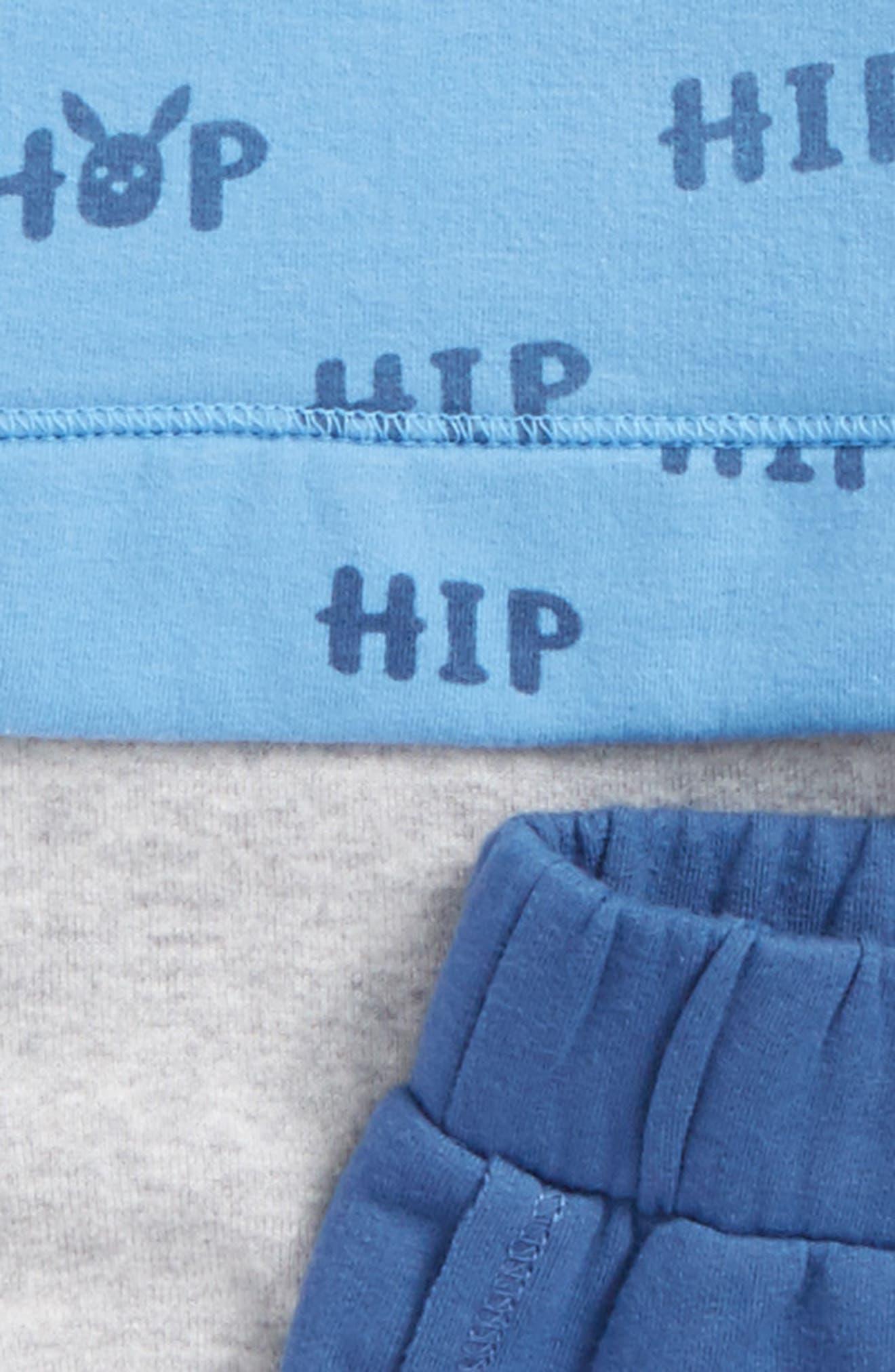 Bodysuit & Sweatpants Set,                             Alternate thumbnail 2, color,                             Blue Lake Hop