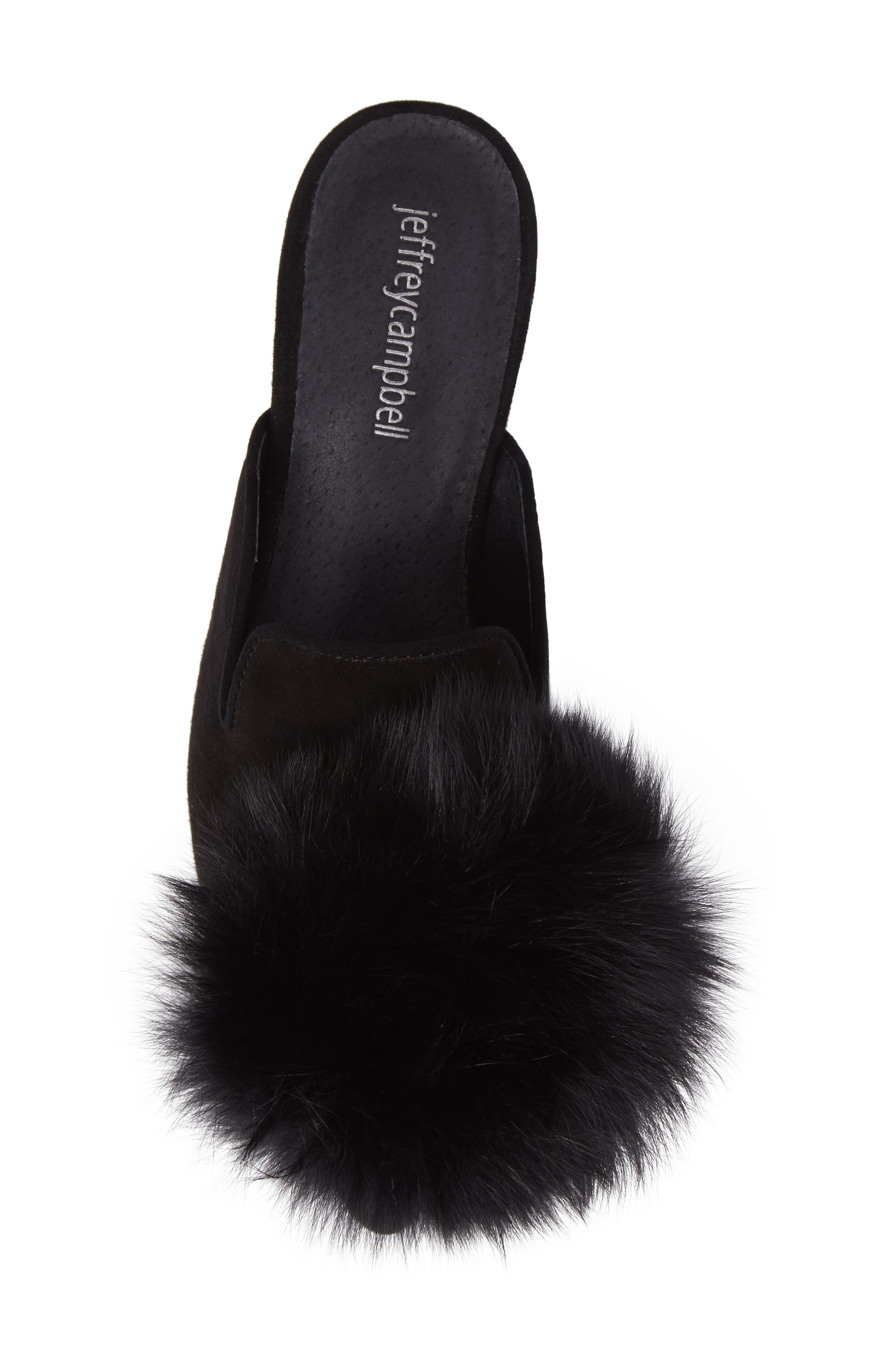 Alternate Image 5  - Jeffrey Campbell Claes Genuine Fur Pompom Mule (Women)