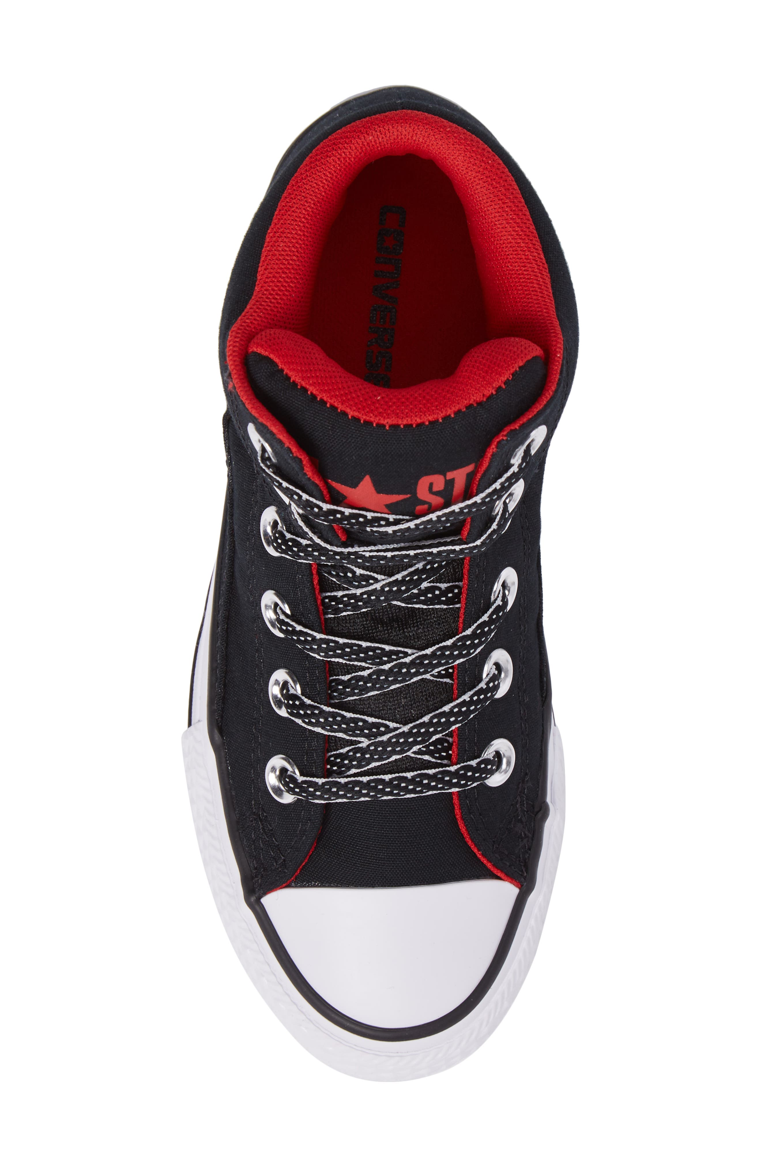 Chuck Taylor<sup>®</sup> All Star<sup>®</sup> High Street High Top Sneaker,                             Alternate thumbnail 5, color,                             Black Canvas