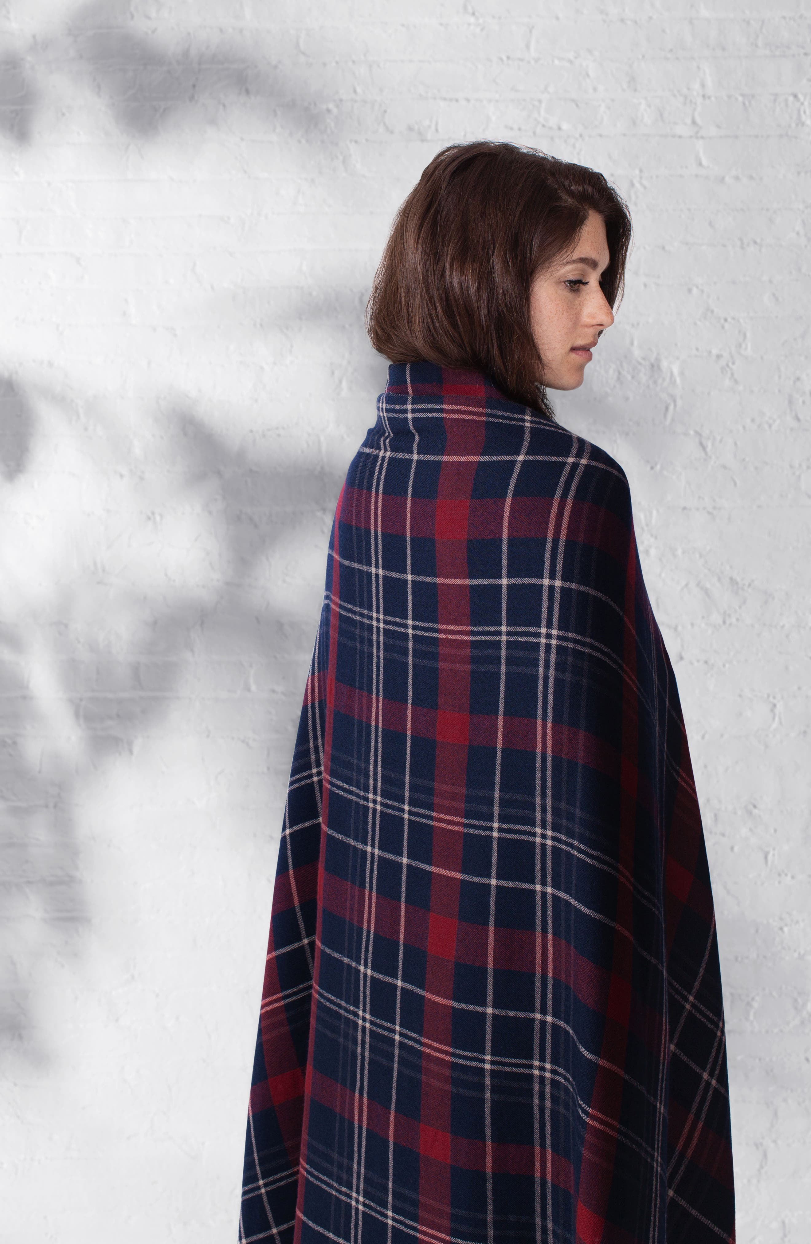 Alternate Image 3  - Modern Staples Tartan Double Face Merino Wool Throw