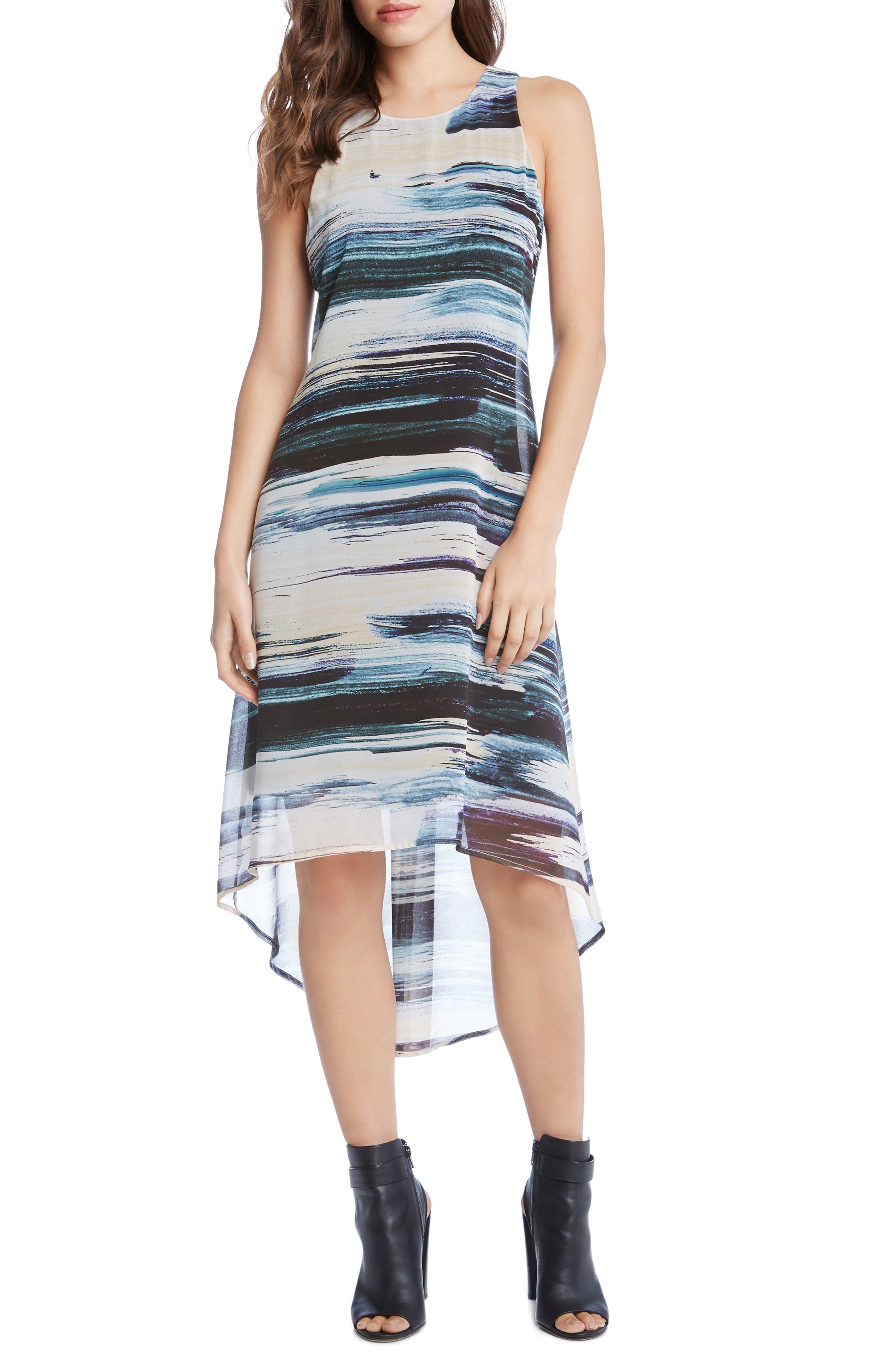 High/Low Hem Maxi Dress,                         Main,                         color, Print