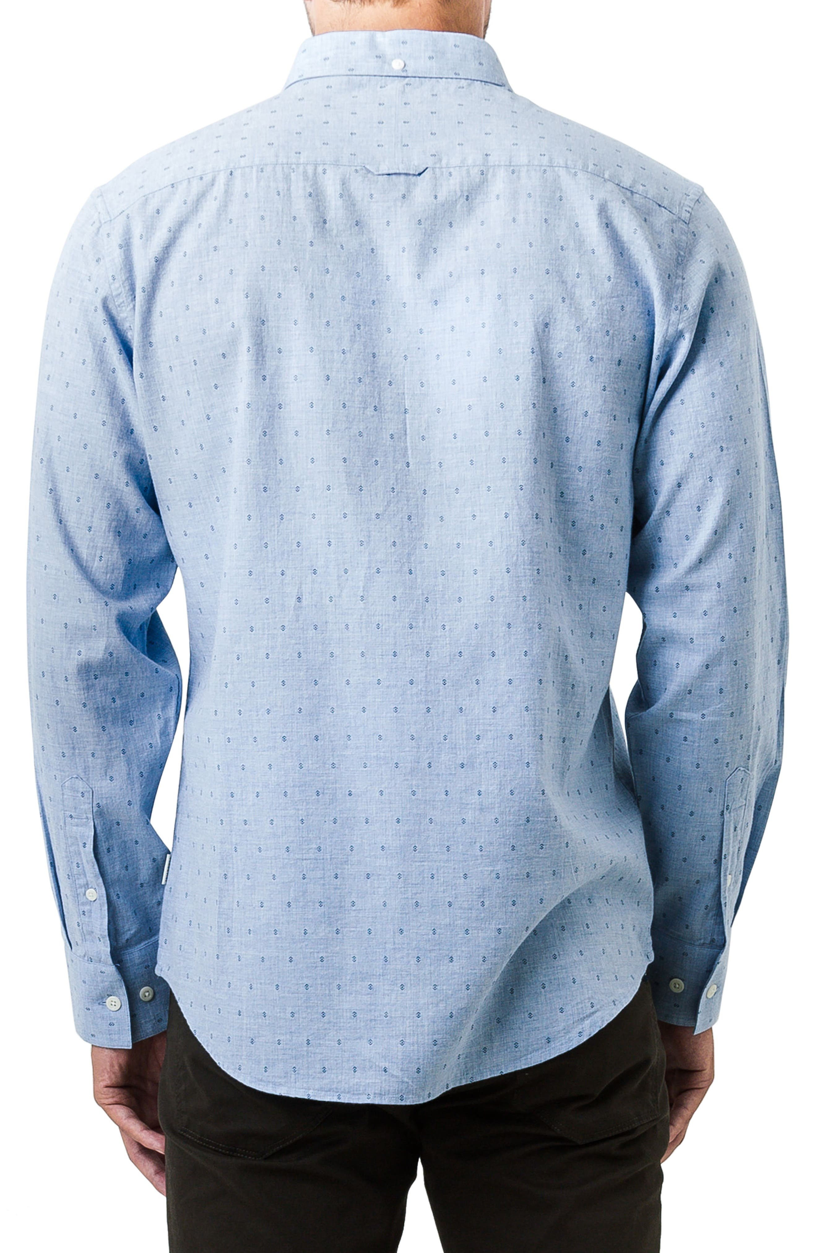 First Light Woven Shirt,                             Alternate thumbnail 2, color,                             Light Blue