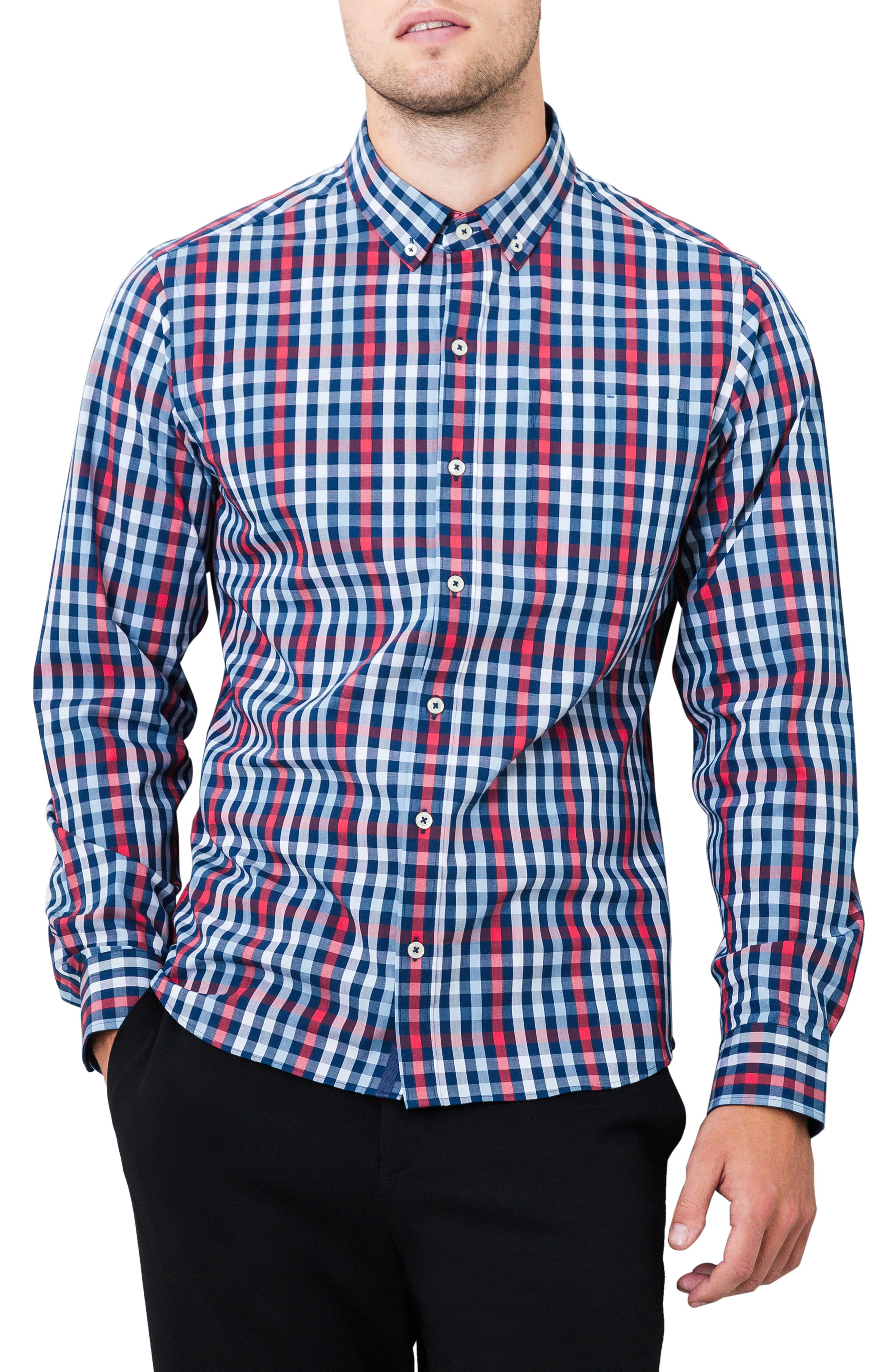 Year One Woven Shirt,                         Main,                         color, Navy