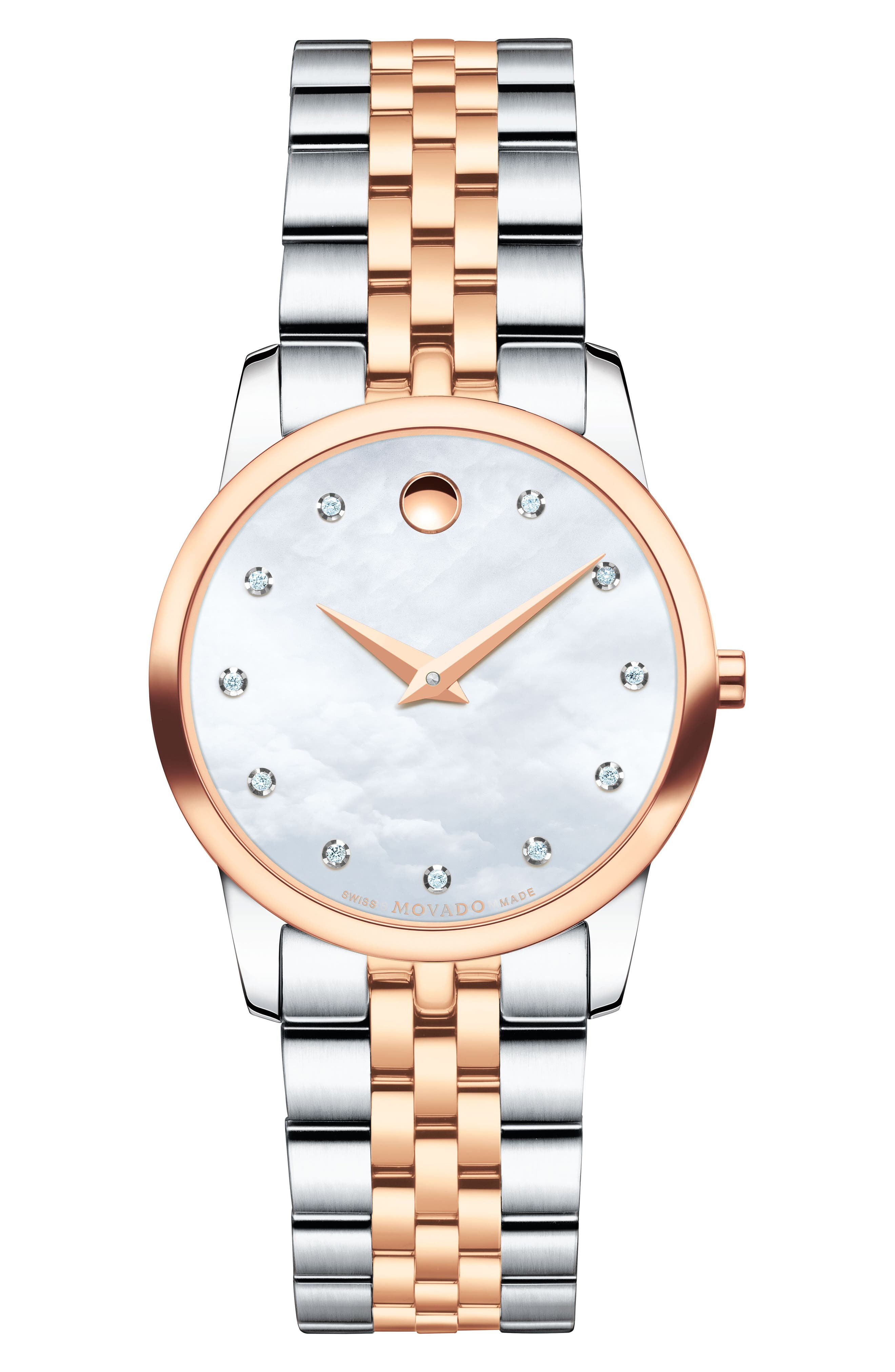 Movado Classic Museum Diamond Bracelet Watch, 28mm
