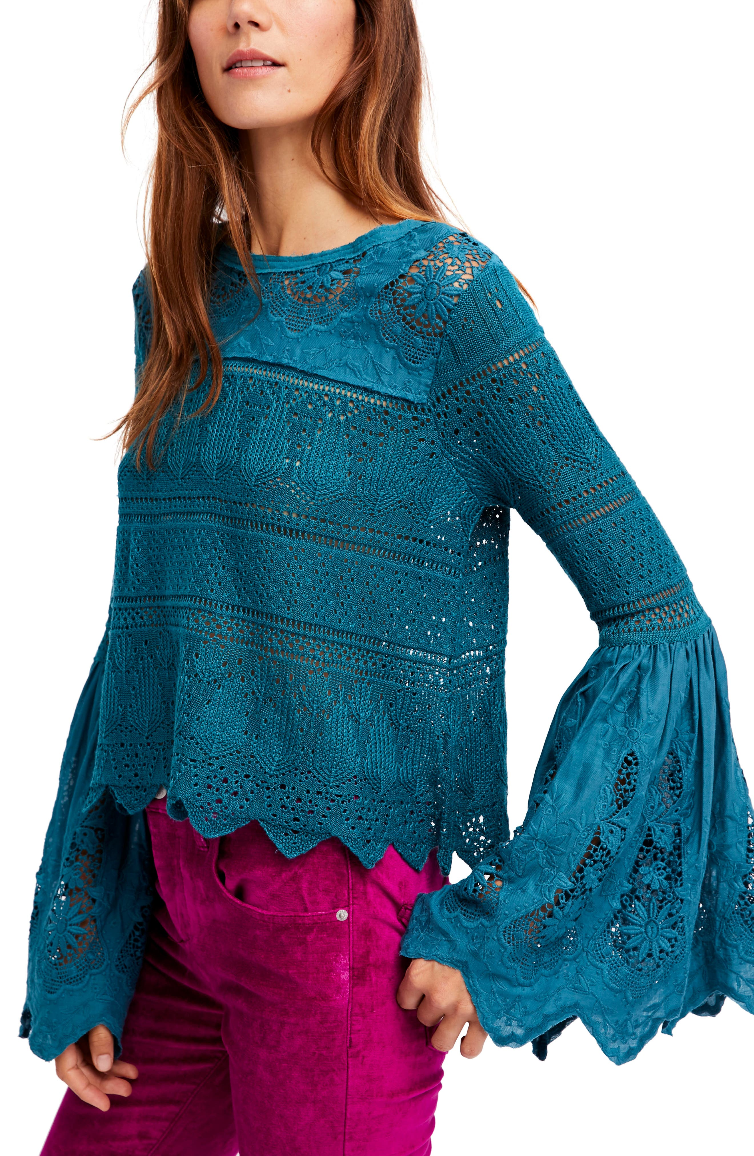 Free People Once Upon a Time Lace Top