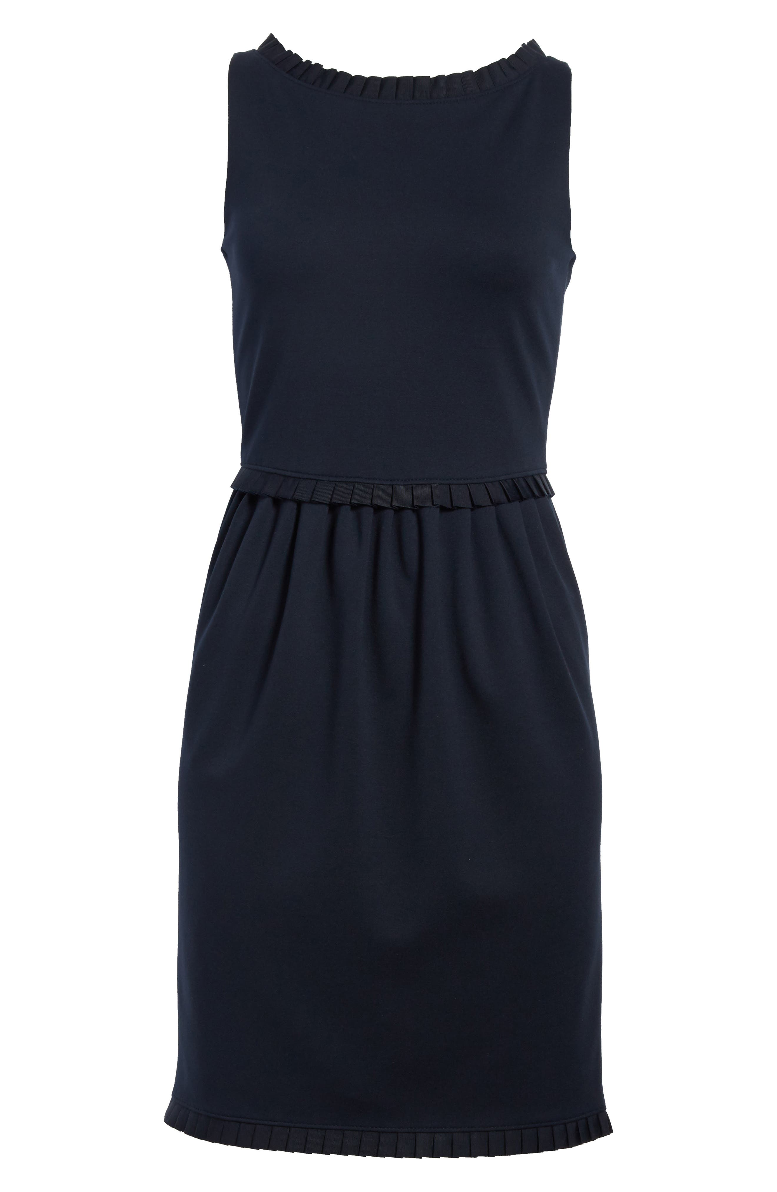 Milano Jersey Dress,                             Alternate thumbnail 7, color,                             Solid Blue Navy