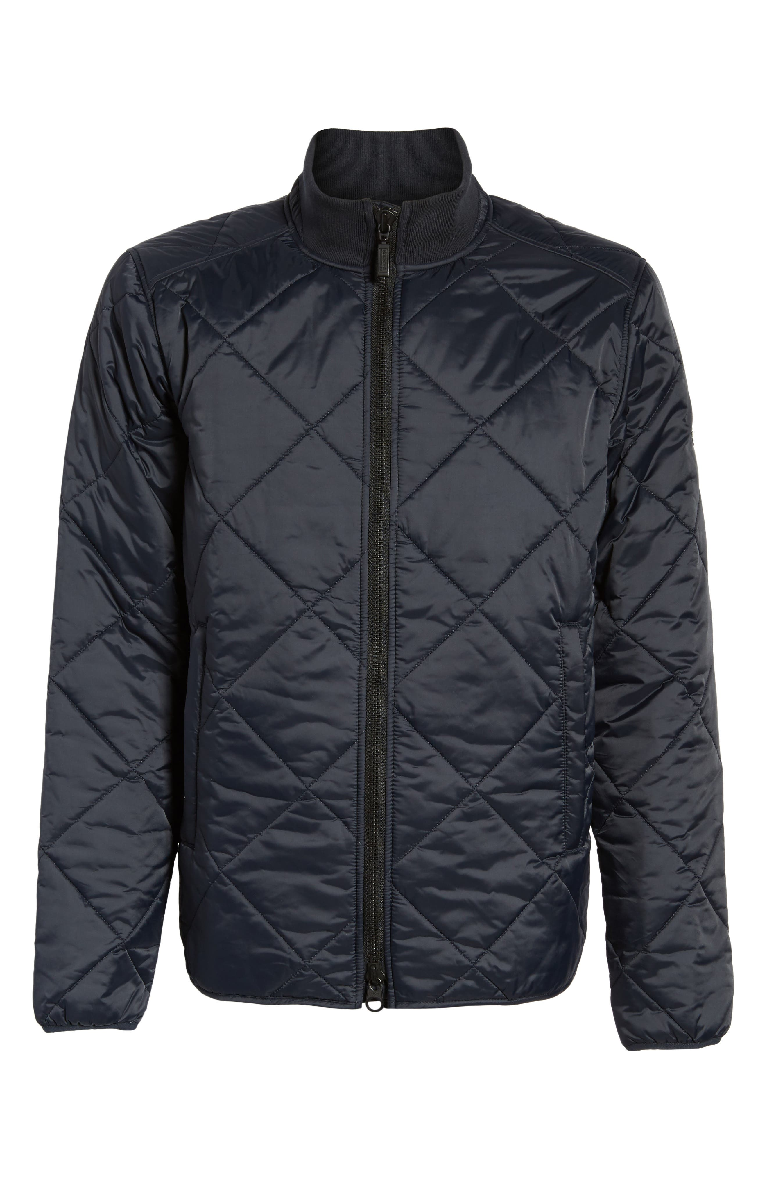 International Gabion Quilted Jacket,                             Alternate thumbnail 6, color,                             Navy