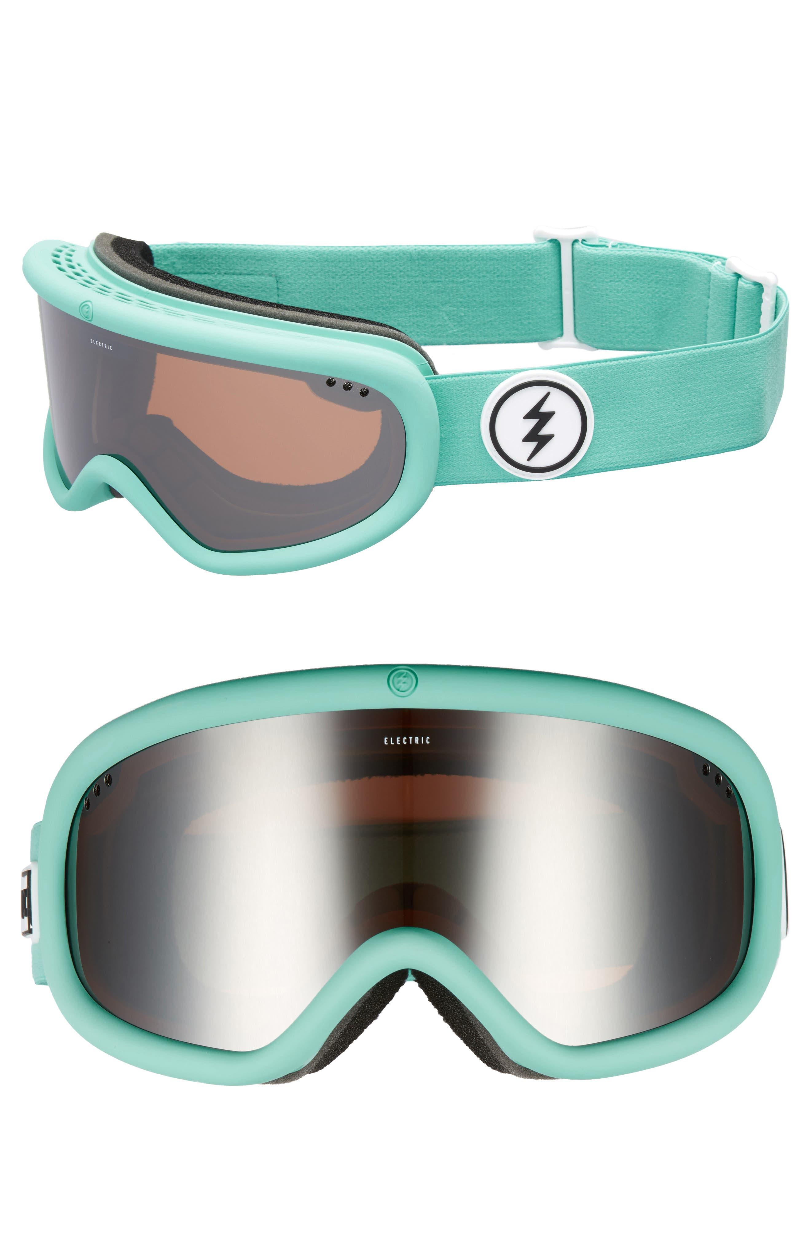 Charger Snow Goggles,                             Main thumbnail 1, color,                             Turquoise/ Silver Chrome