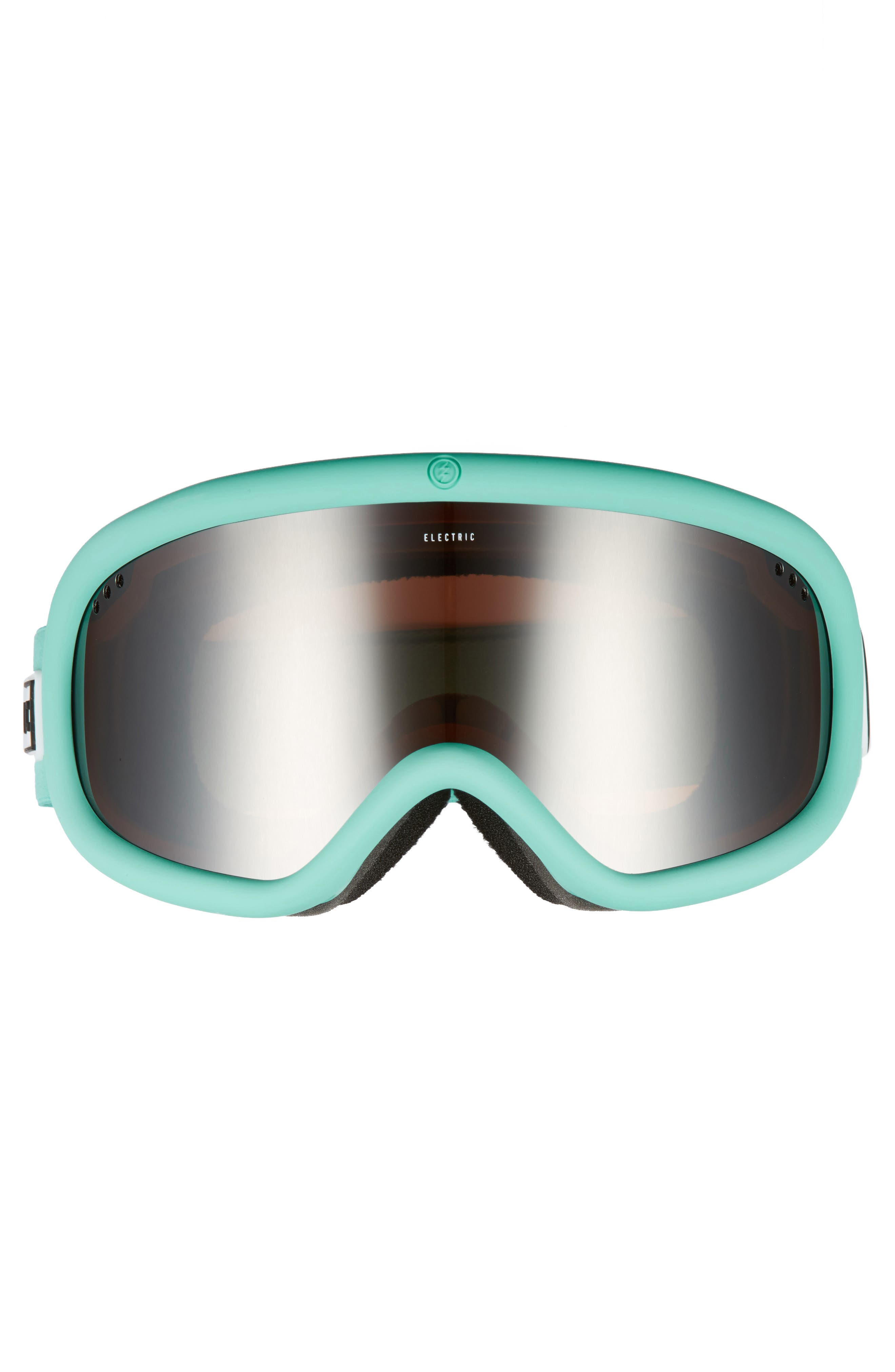 Charger Snow Goggles,                             Alternate thumbnail 3, color,                             Turquoise/ Silver Chrome