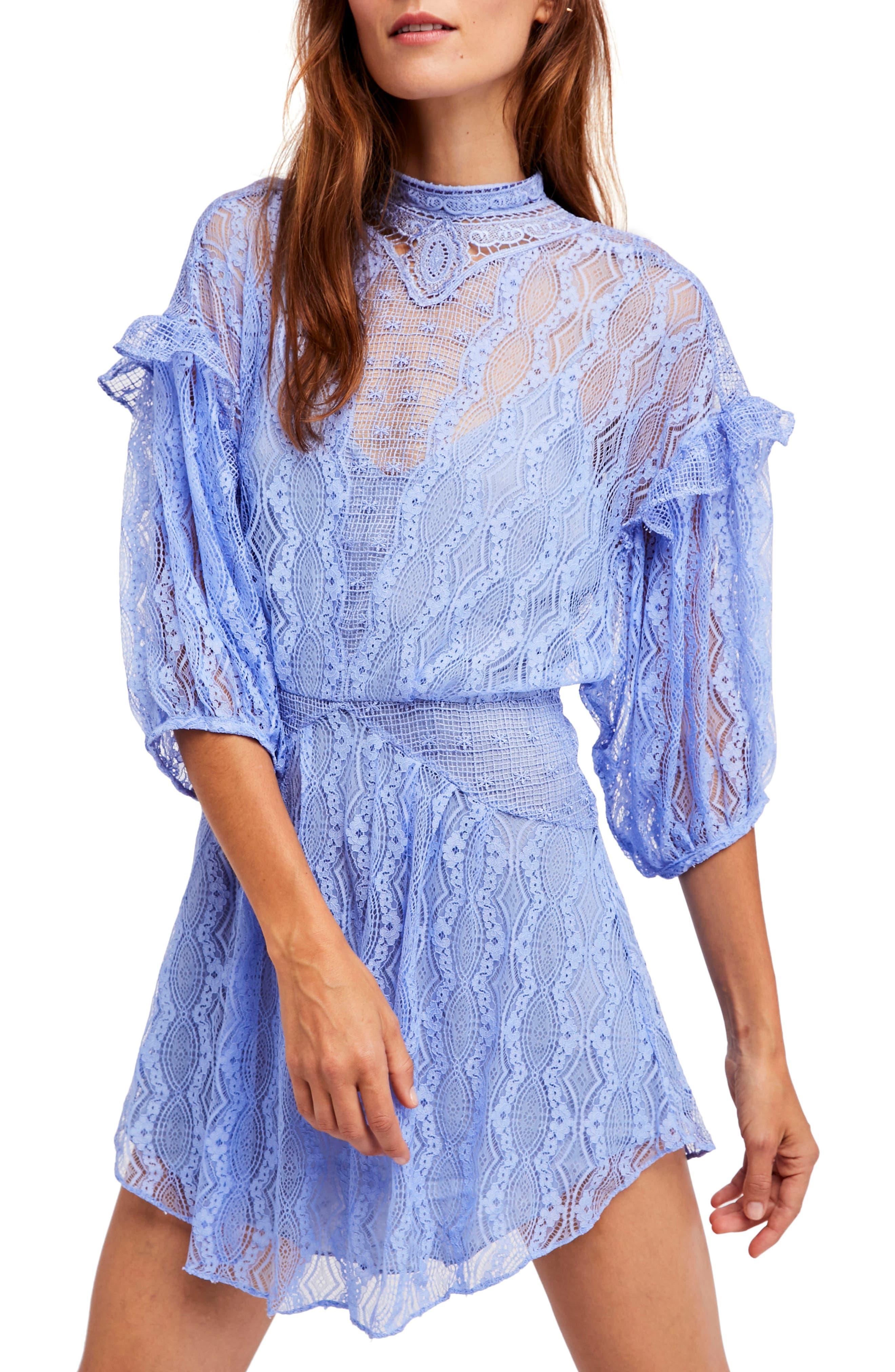 Bittersweet Dolman Sleeve Minidress,                         Main,                         color, Blue
