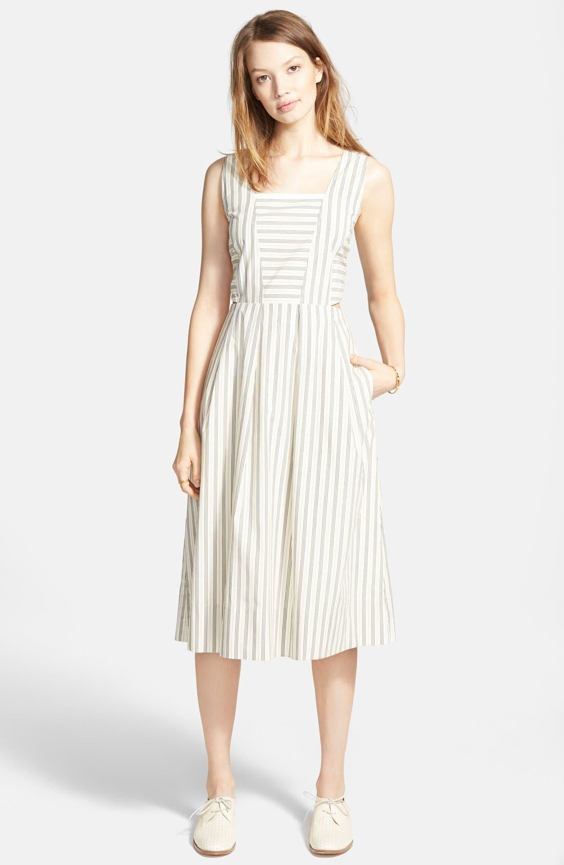 Main Image - Madewell Cutout Stripe Sundress