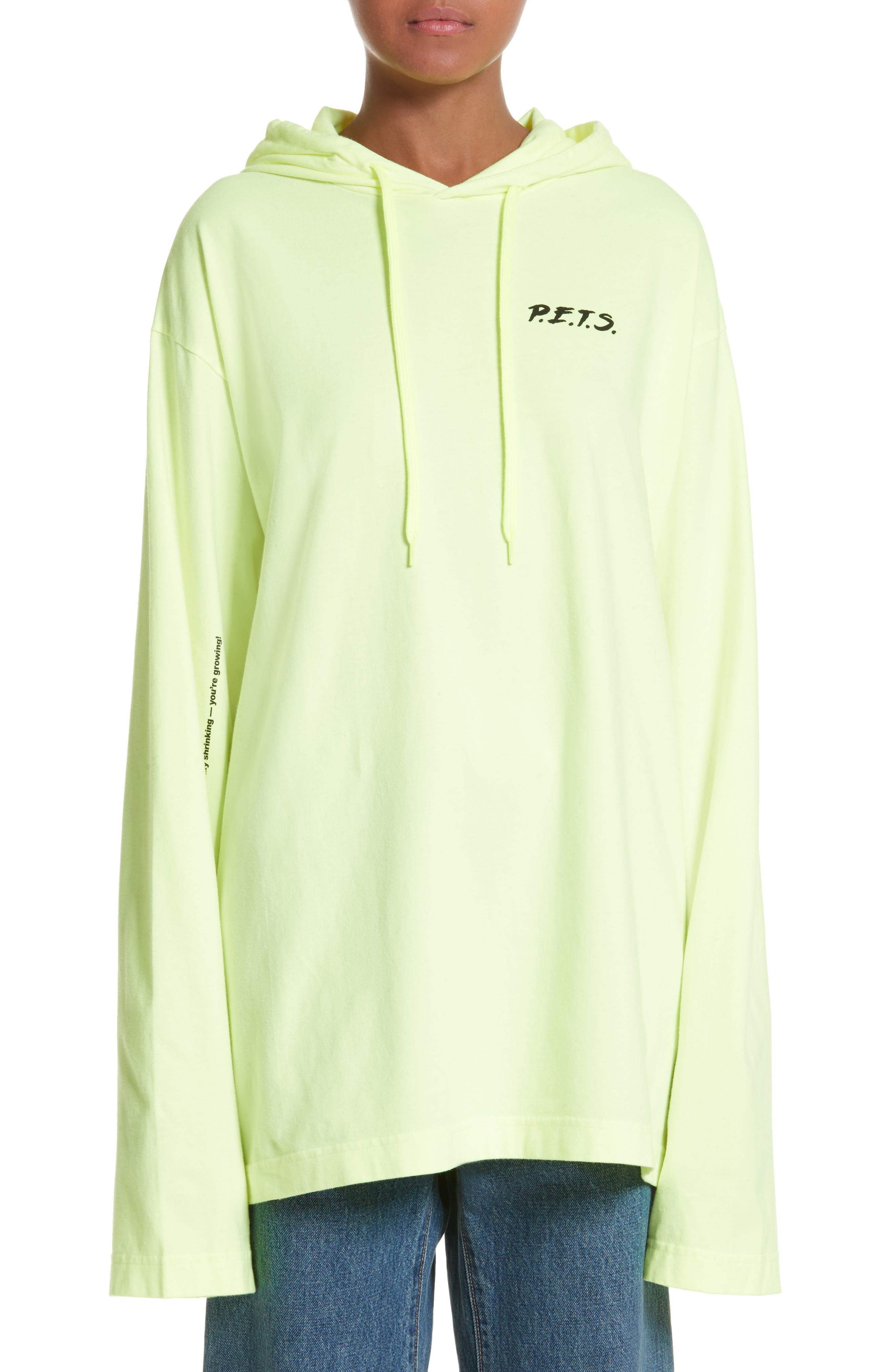 P.E.T.S. Jersey Pullover Hoodie,                         Main,                         color, Neon/ Print