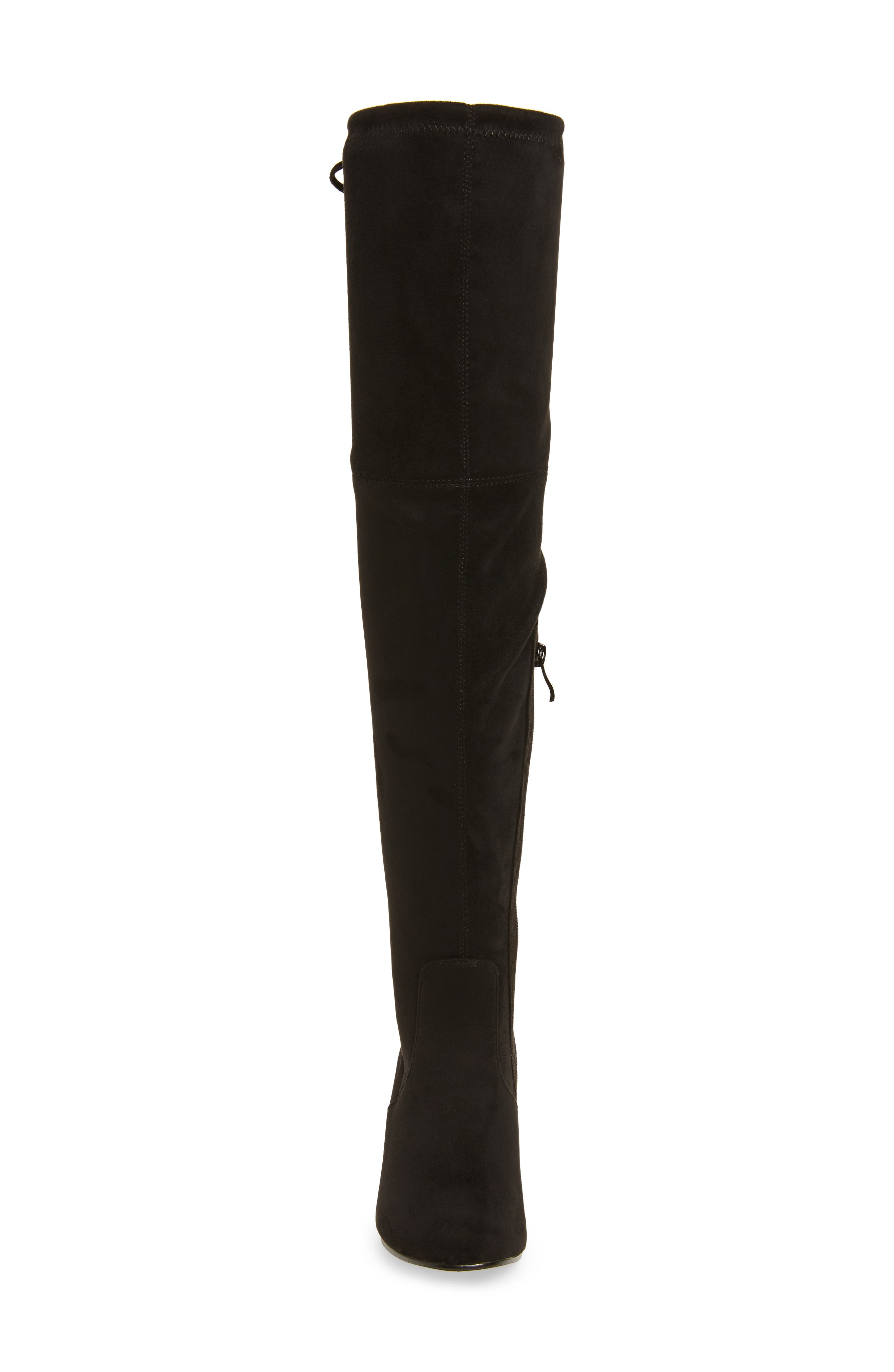Heartbeat Over the Knee Boot,                             Alternate thumbnail 4, color,                             Black