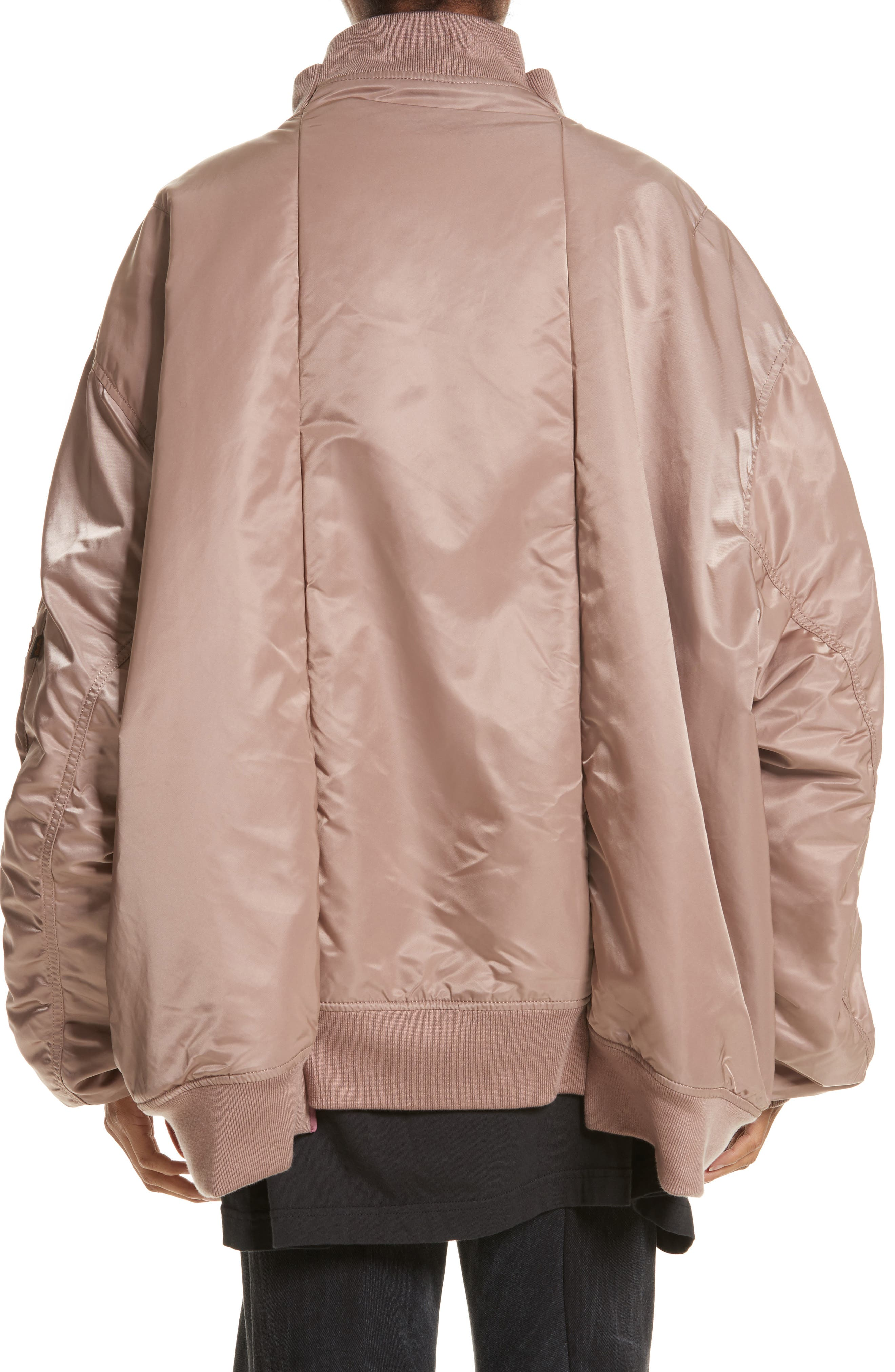x Alpha Industries Reversible Bomber Jacket,                             Alternate thumbnail 2, color,                             Rose Pink