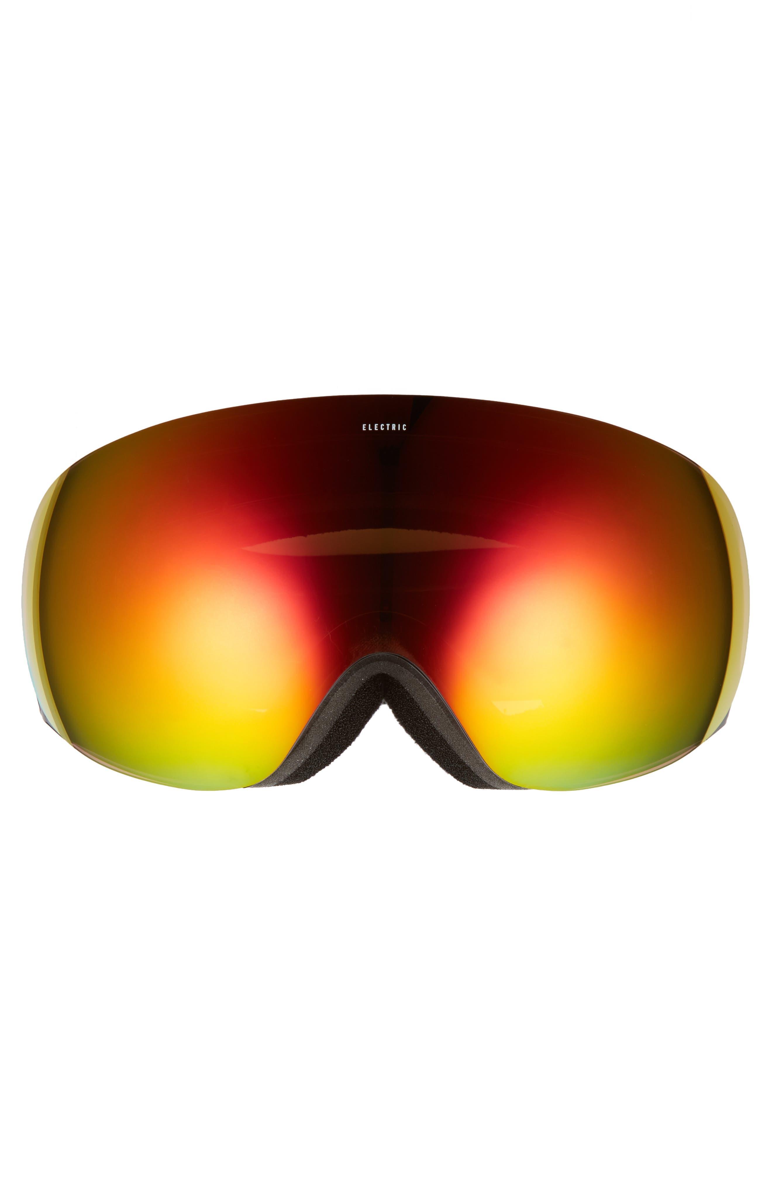 EG3.5 Snow Goggles,                             Alternate thumbnail 3, color,                             Gloss Black/ Red Chrome