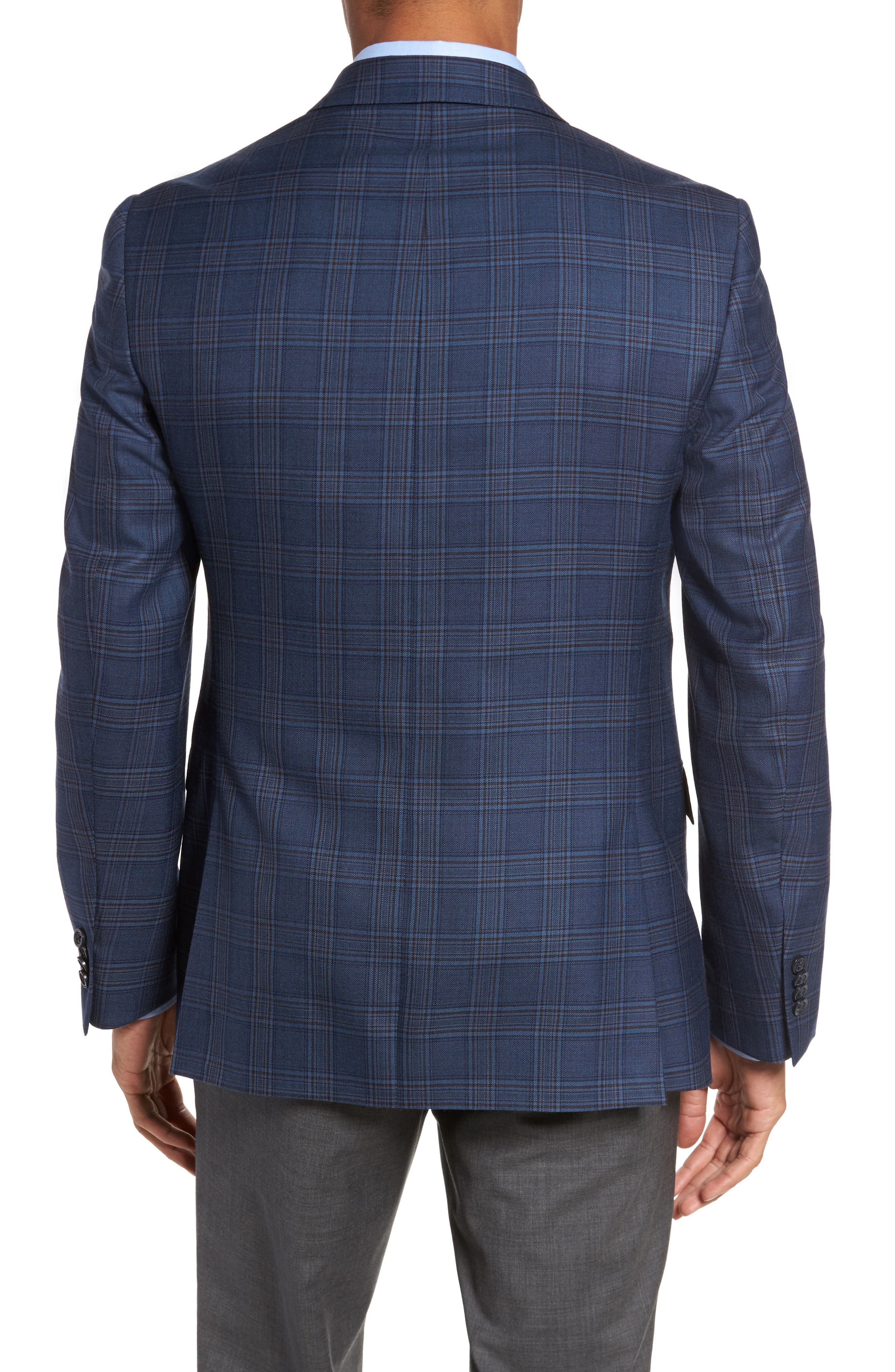 Alternate Image 2  - JB Britches Classic Fit Plaid Wool Sport Coat