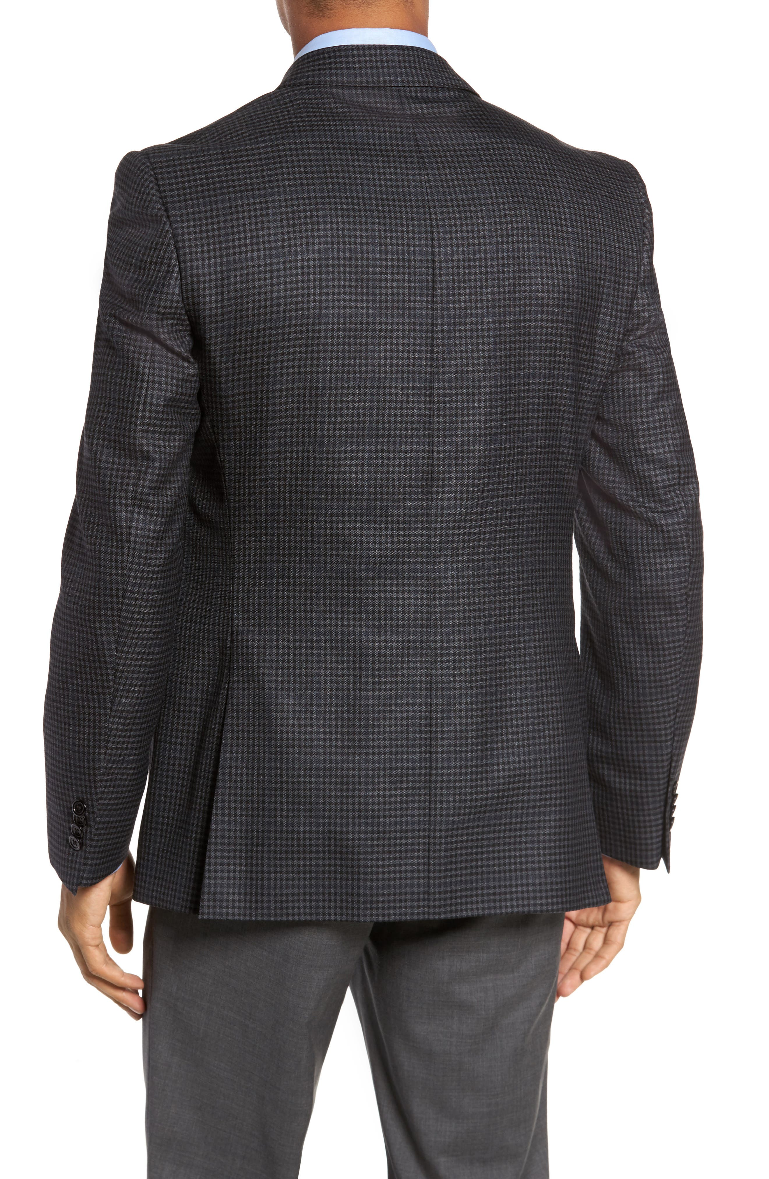 Classic Fit Plaid Wool Sport Coat,                             Alternate thumbnail 2, color,                             Charcoal