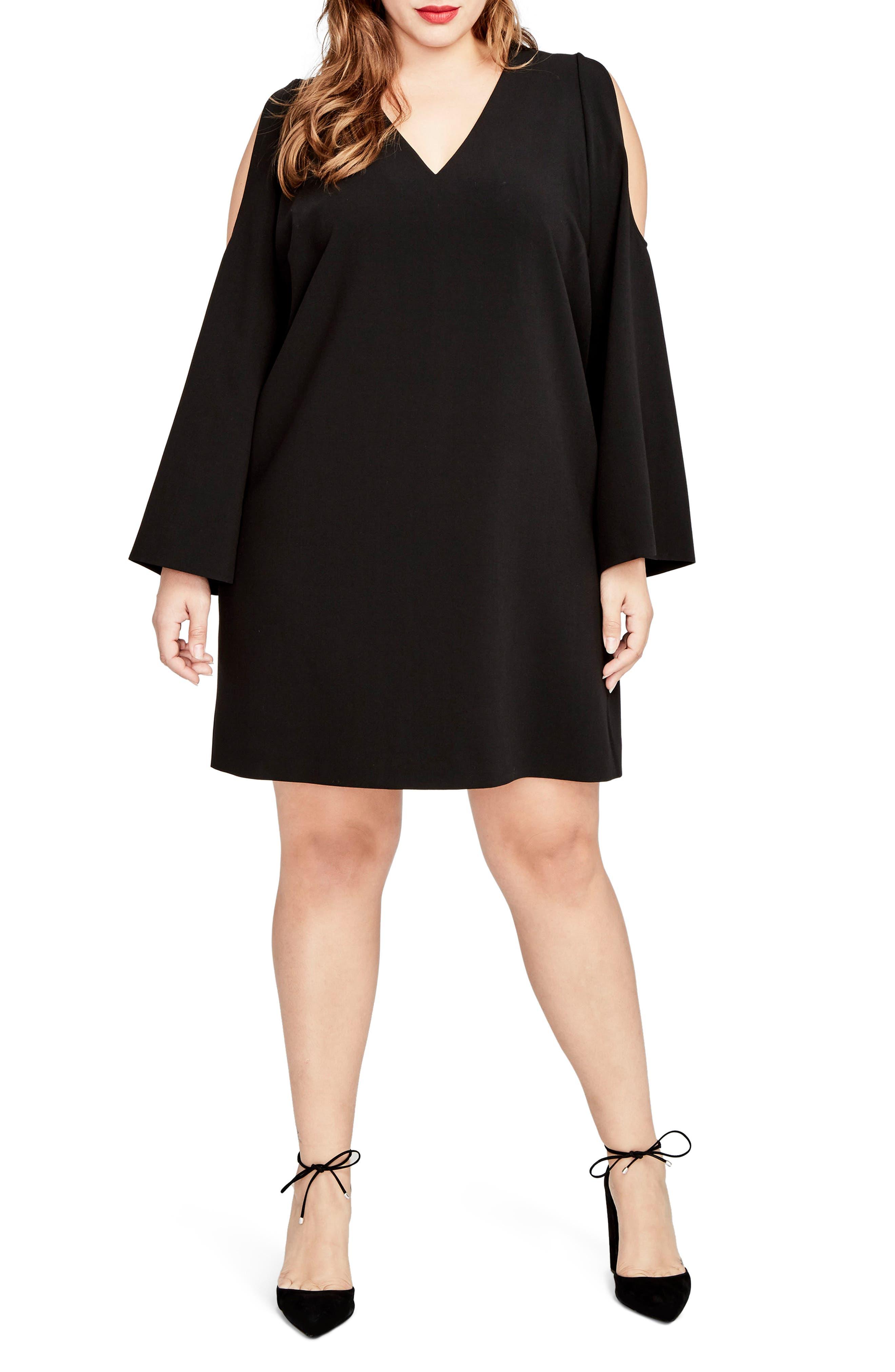 Main Image - RACHEL Rachel Roy Cold Shoulder Shift Dress (Plus Size)