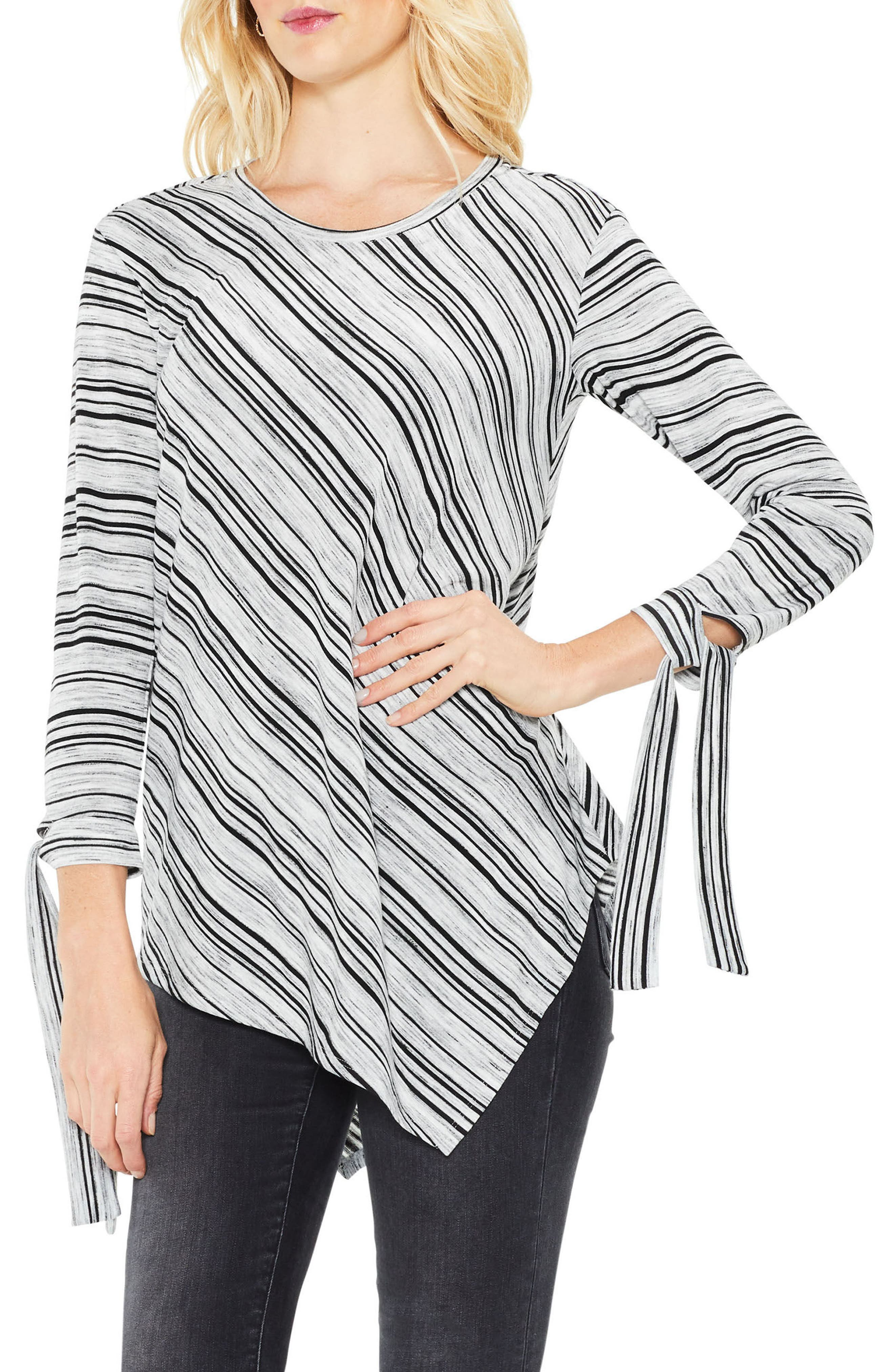 Main Image - Two by Vince Camuto Tie-Cuff Asymmetric Hem Top