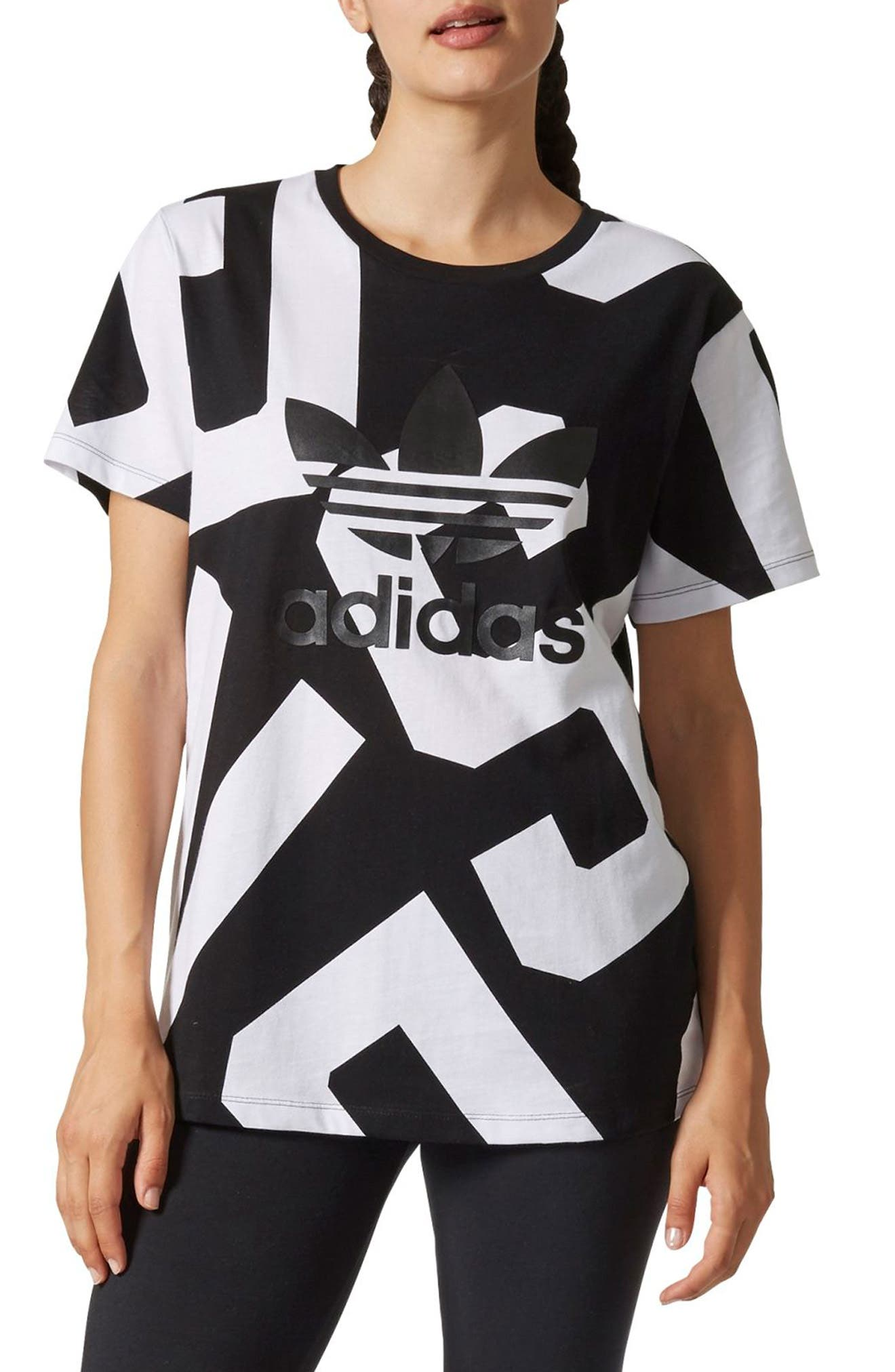 Alternate Image 1 Selected - adidas Bold Ages Boyfriend Tee