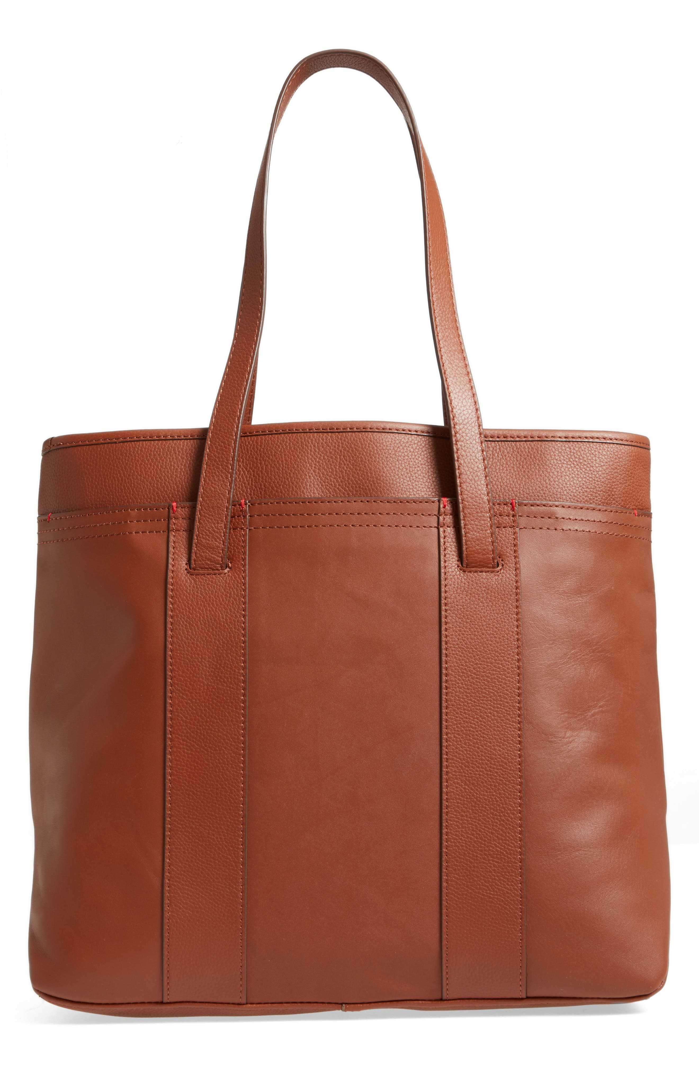 Brody Leather Tote,                             Alternate thumbnail 3, color,                             Whiskey