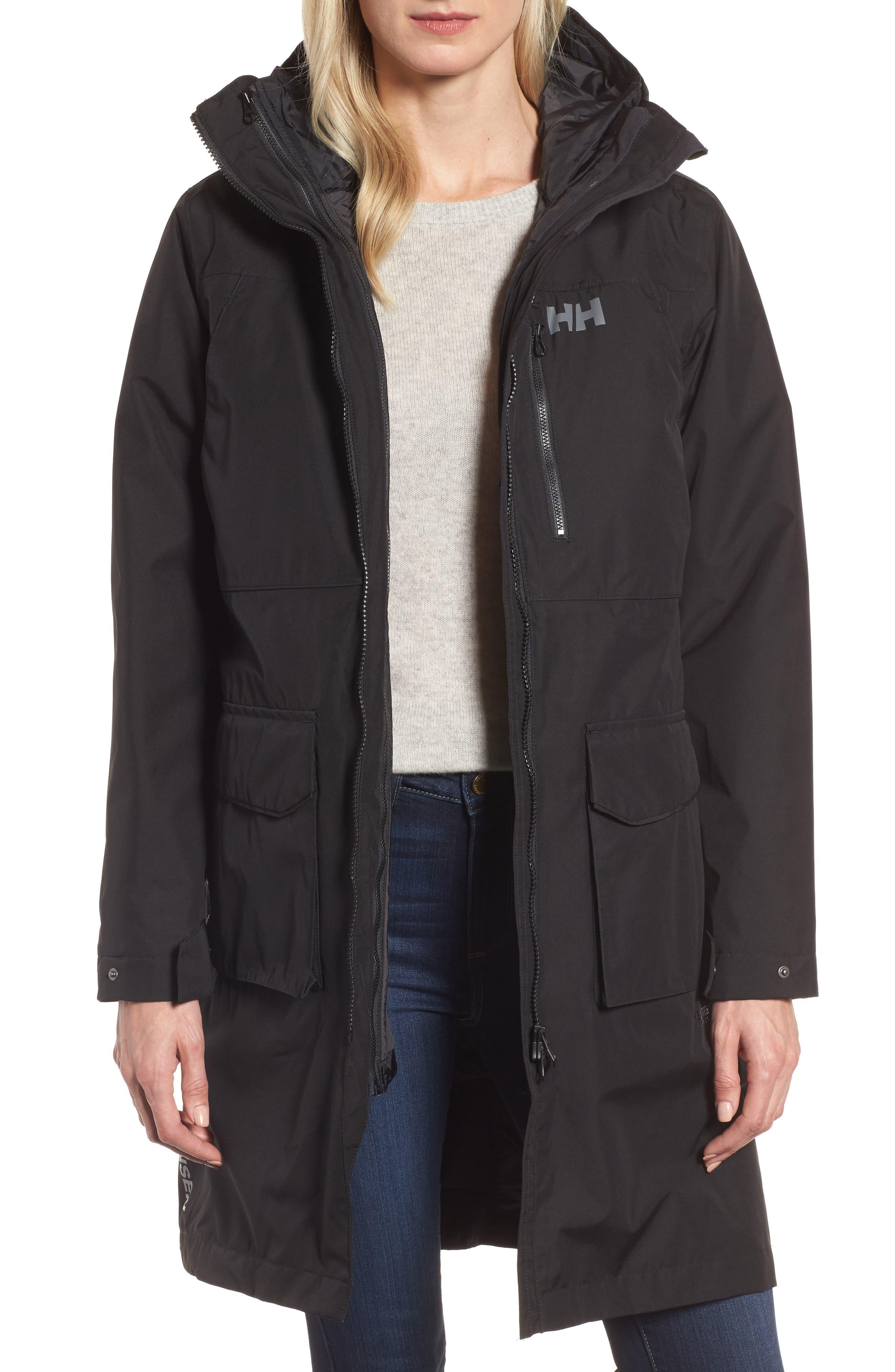 Rigging Waterproof 3-in-1 Raincoat,                             Main thumbnail 1, color,                             Para Black