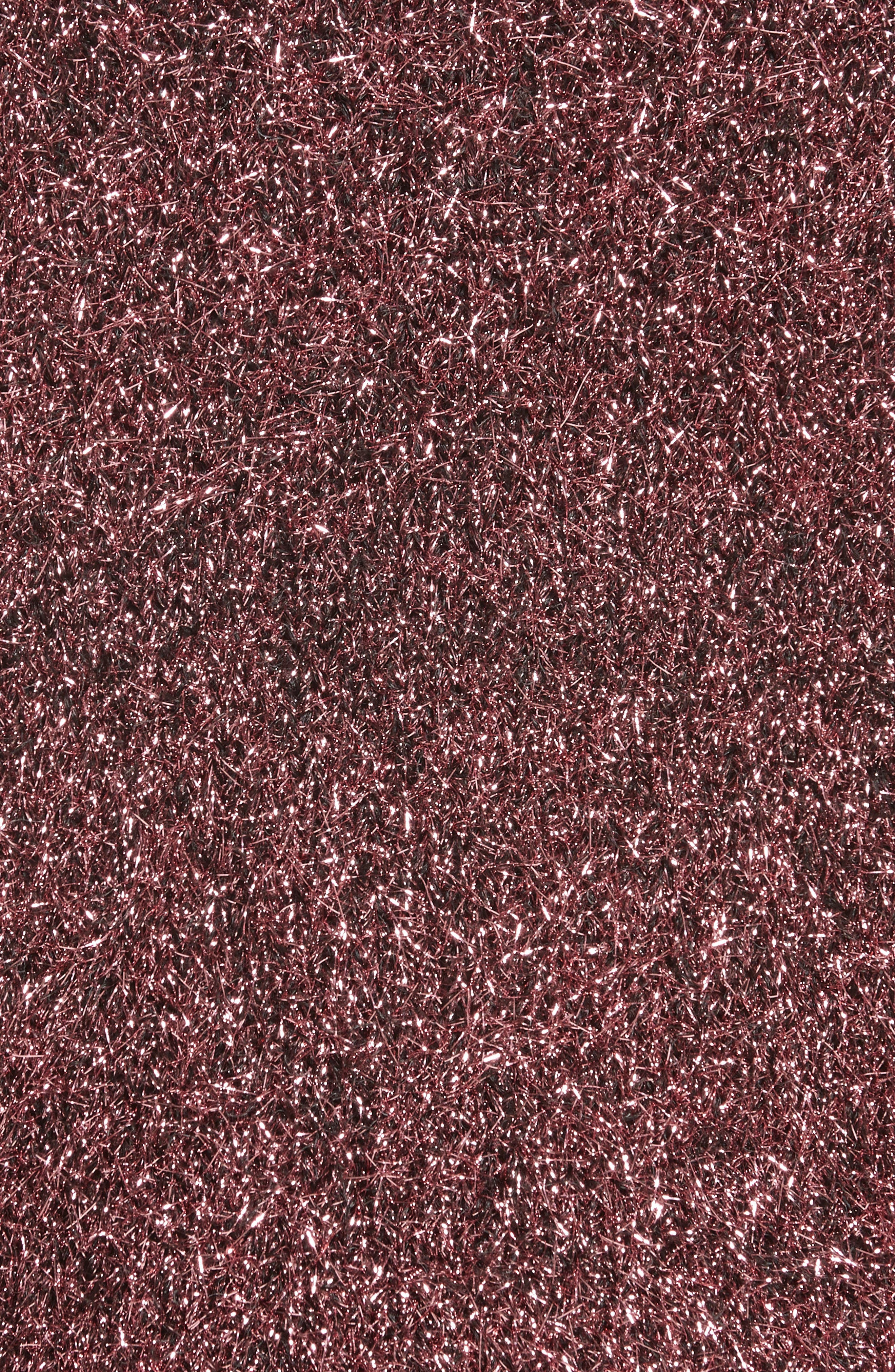 Vaporize Textured Metallic Sweater,                             Alternate thumbnail 5, color,                             Pink