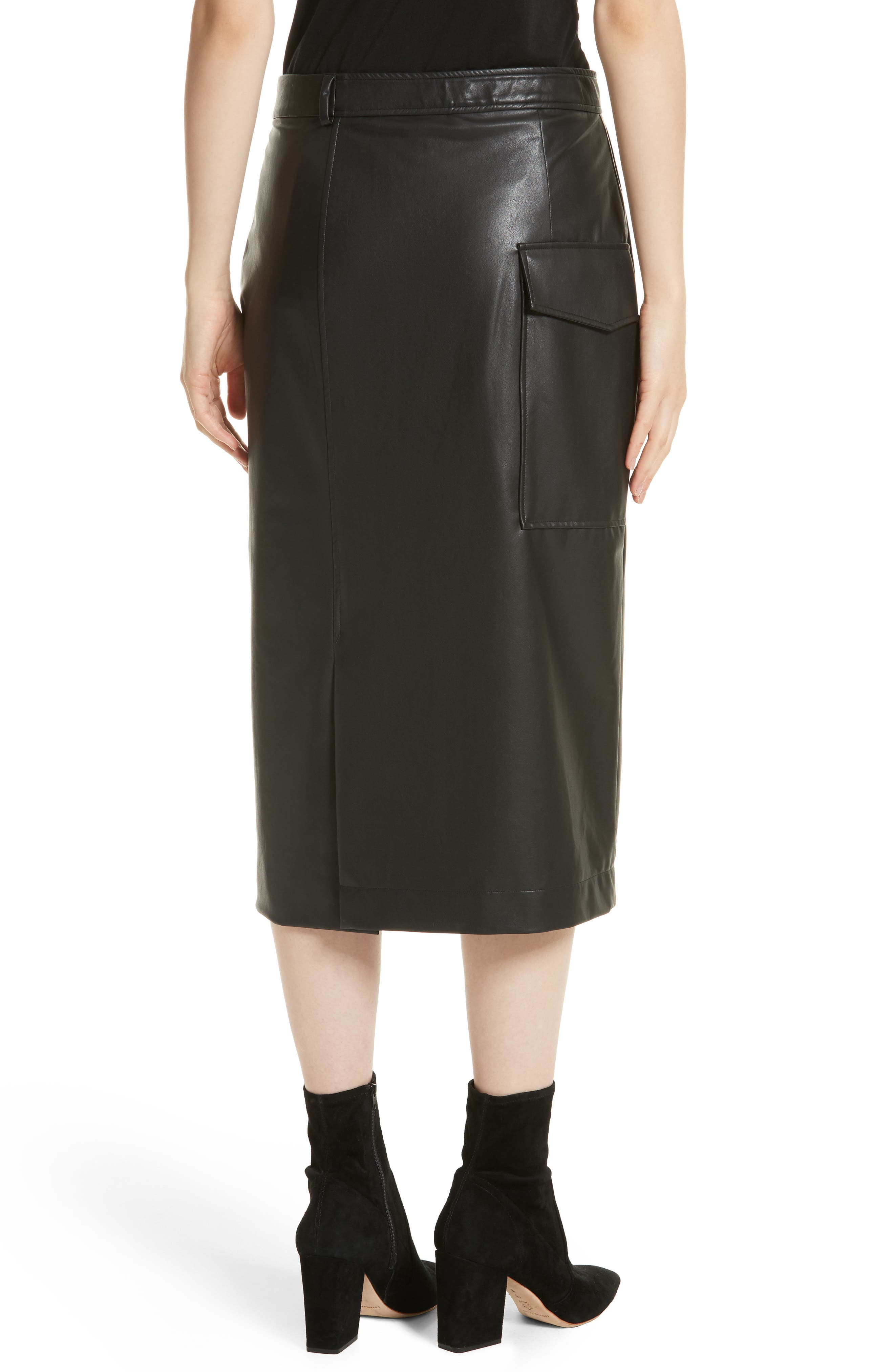 Keller Feather Sky Skirt,                             Alternate thumbnail 2, color,                             Black