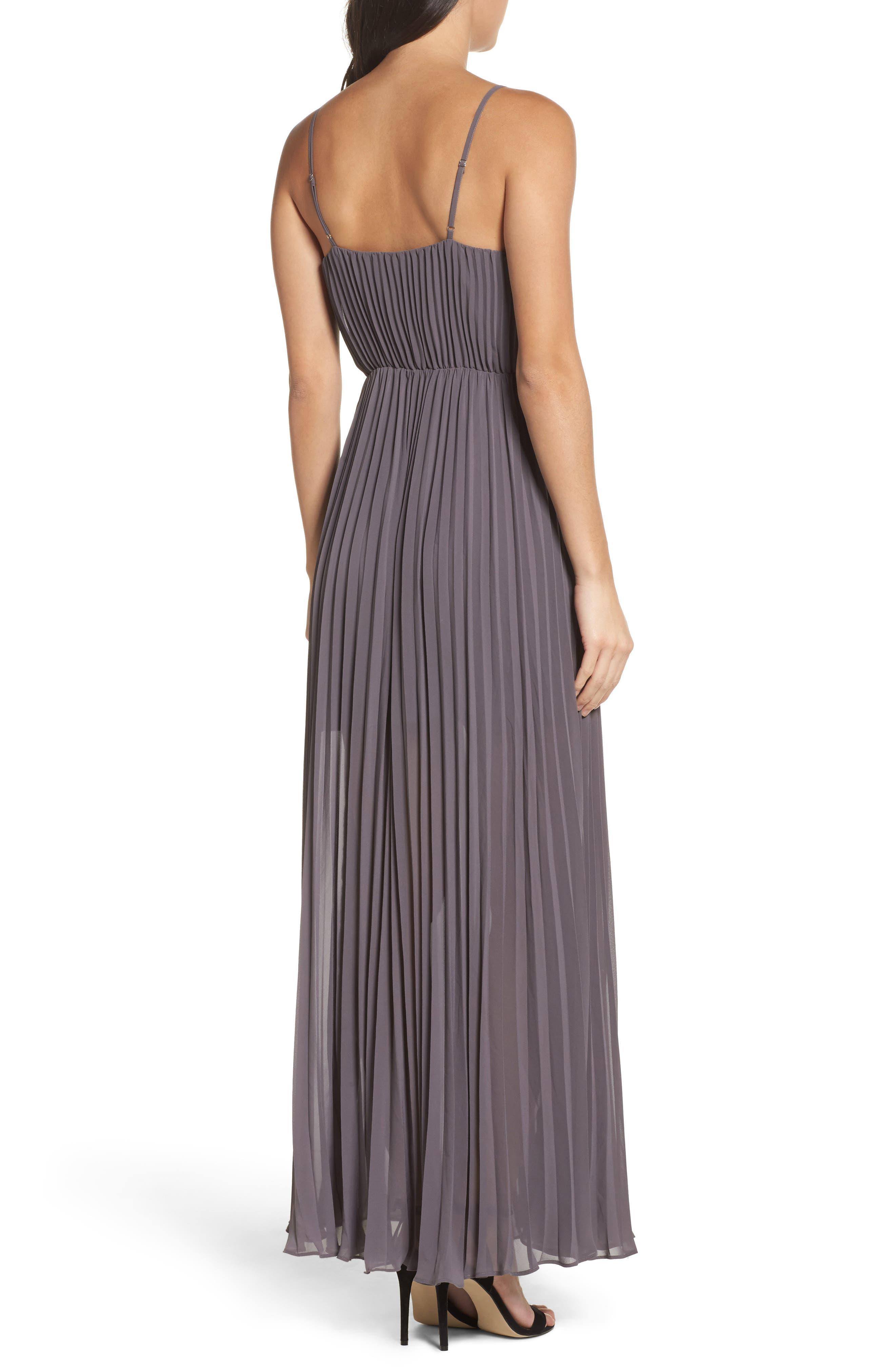 She Is A Regular Pleated Maxi Dress,                             Alternate thumbnail 2, color,                             Slate