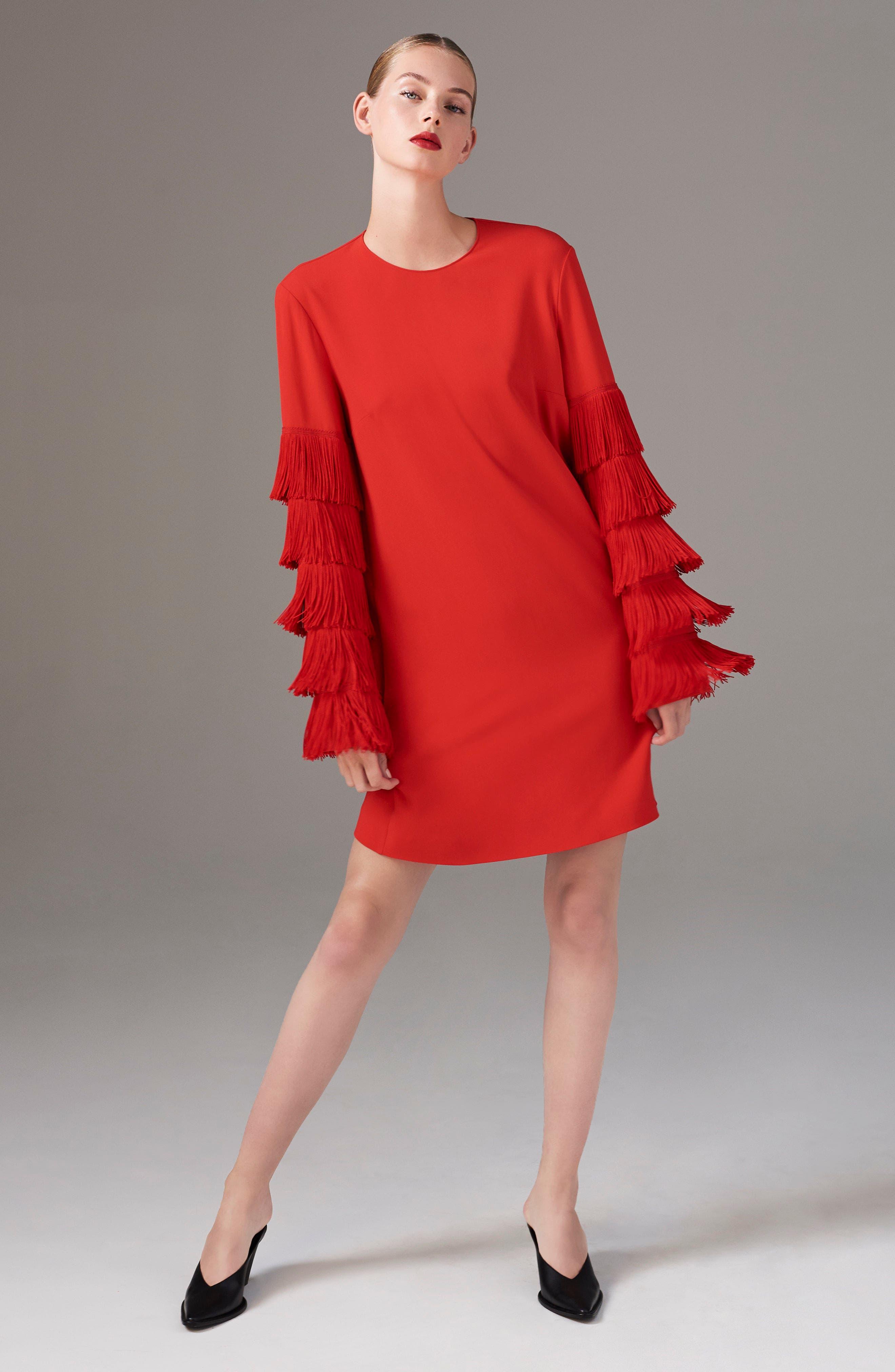 Alternate Image 2  - Stella McCartney Fringe Sleeve Stretch Cady Dress