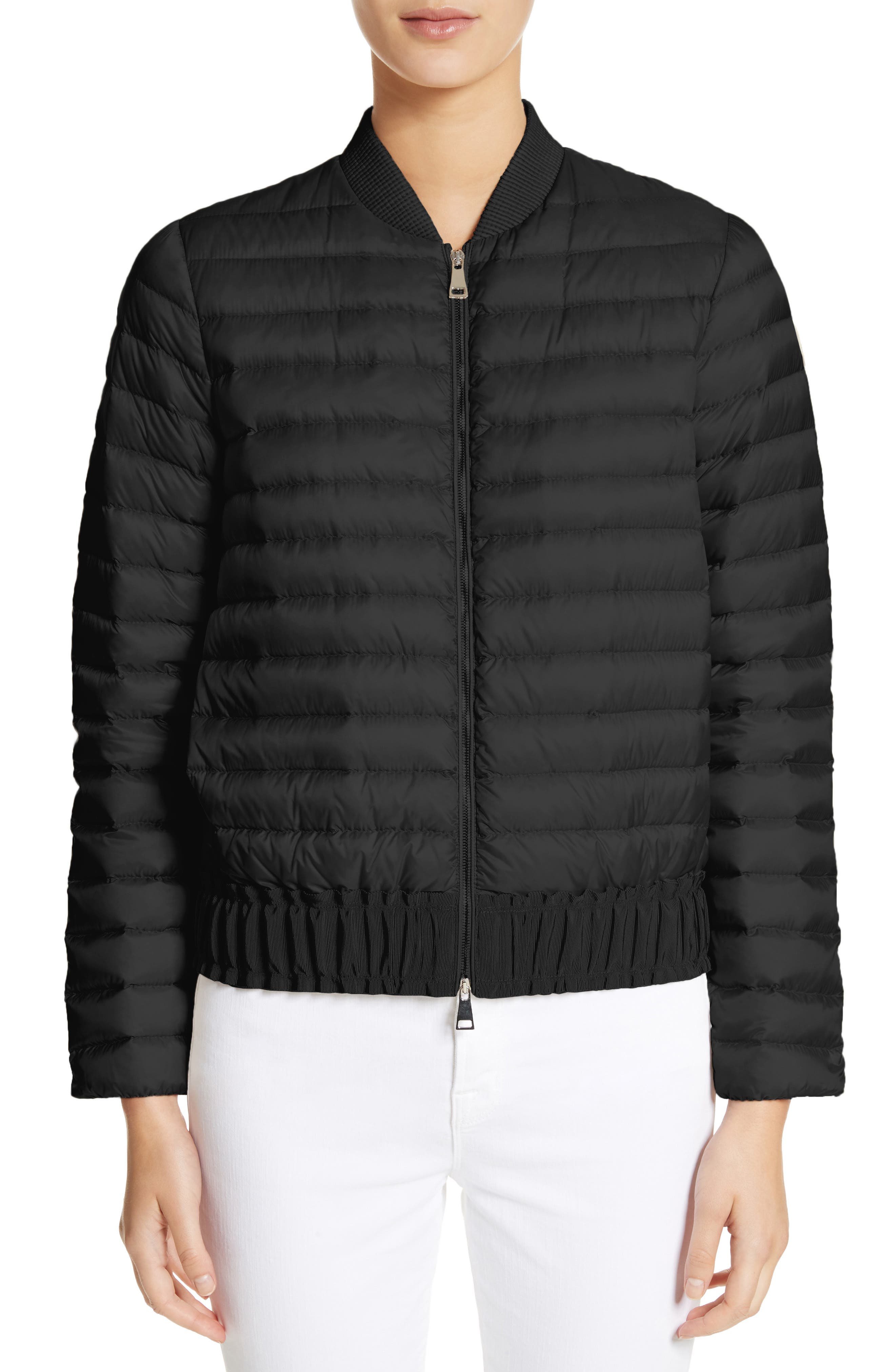 Barytine Quilted Bomber Jacket,                         Main,                         color, Black