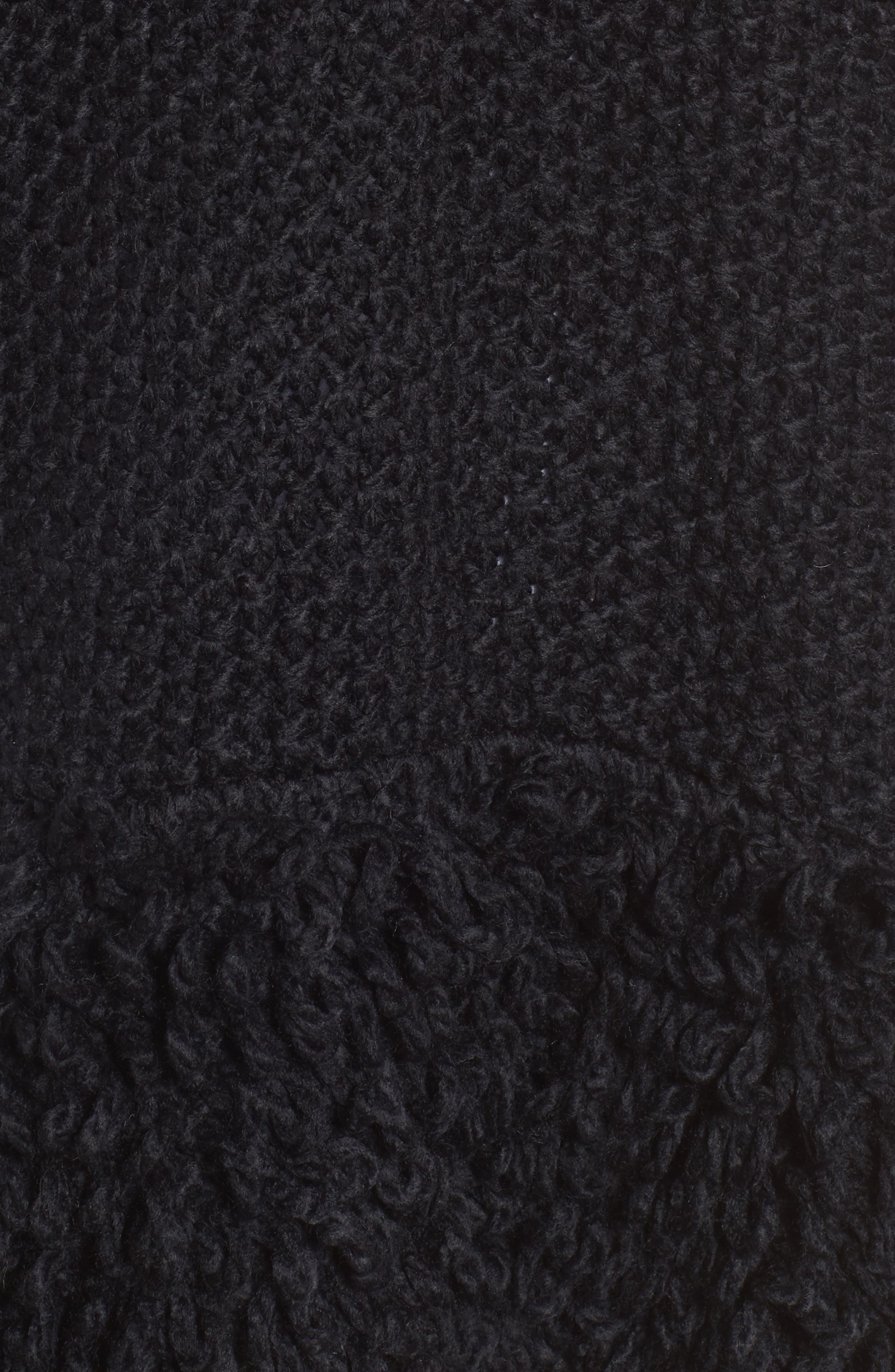 Knit Poncho,                             Alternate thumbnail 5, color,                             Black