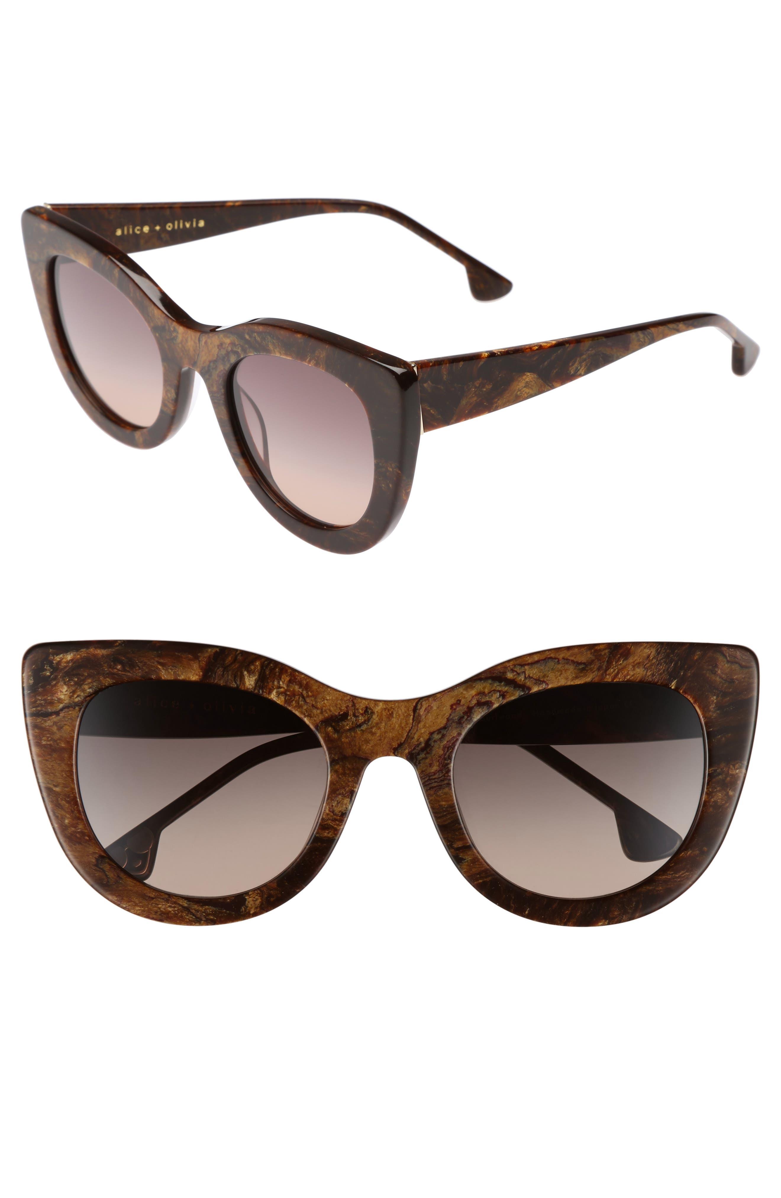 Main Image - Alice + Olivia Delancey 51mm Cat Eye Sunglasses