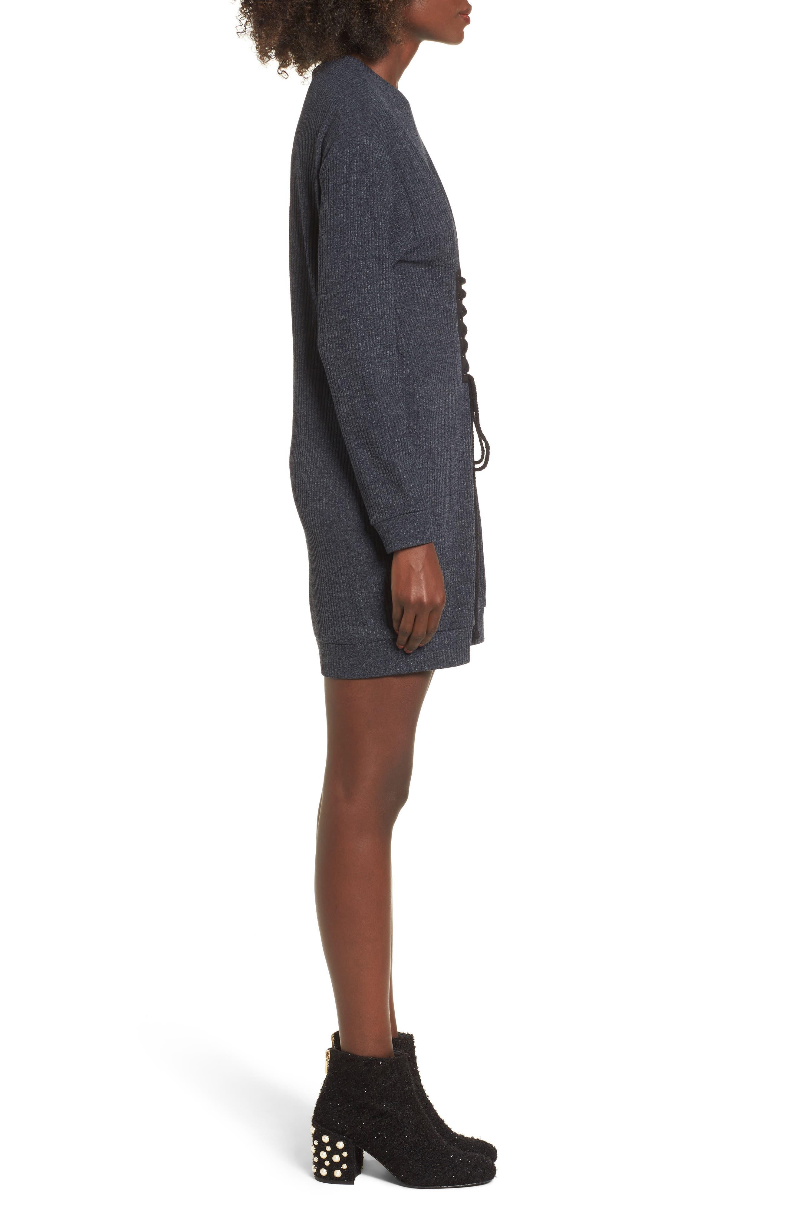 Alternate Image 3  - WAYF Corset Detail Sweatshirt Dress