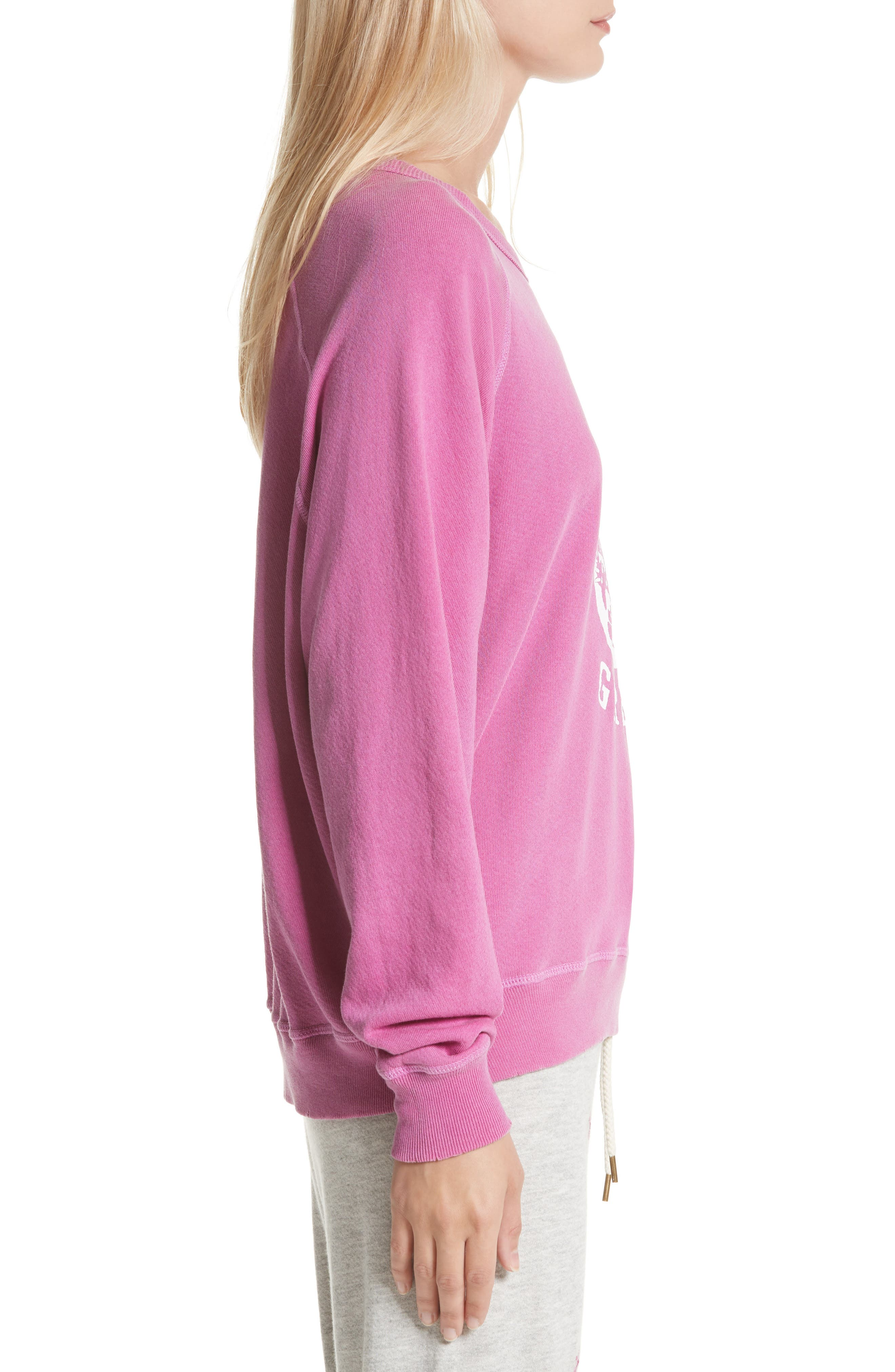 The College Sweatshirt,                             Alternate thumbnail 3, color,                             Thistle W/ Jaguar Graphic