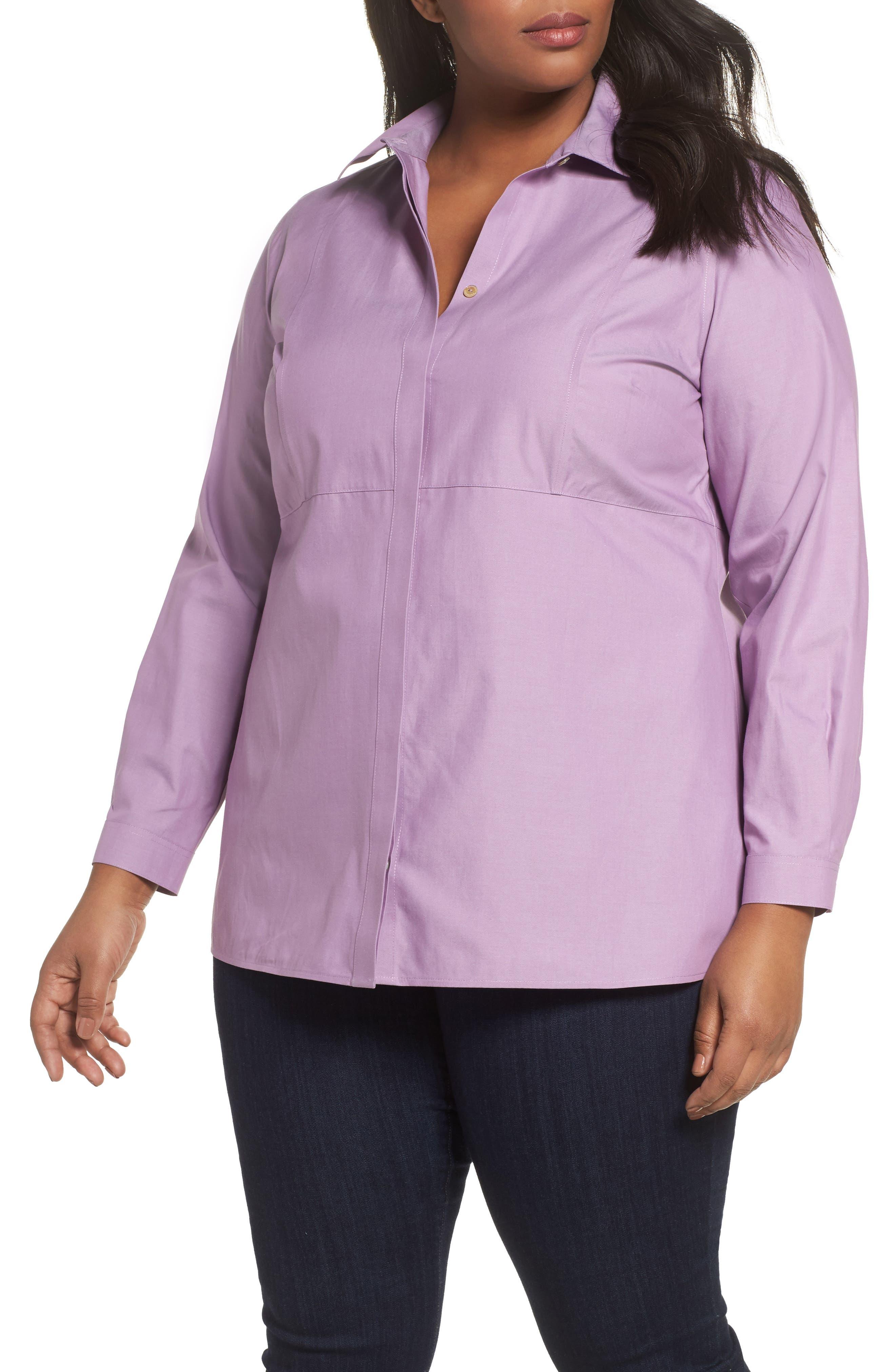 Pinpoint Oxford Cloth Shirt,                             Main thumbnail 1, color,                             Mauve