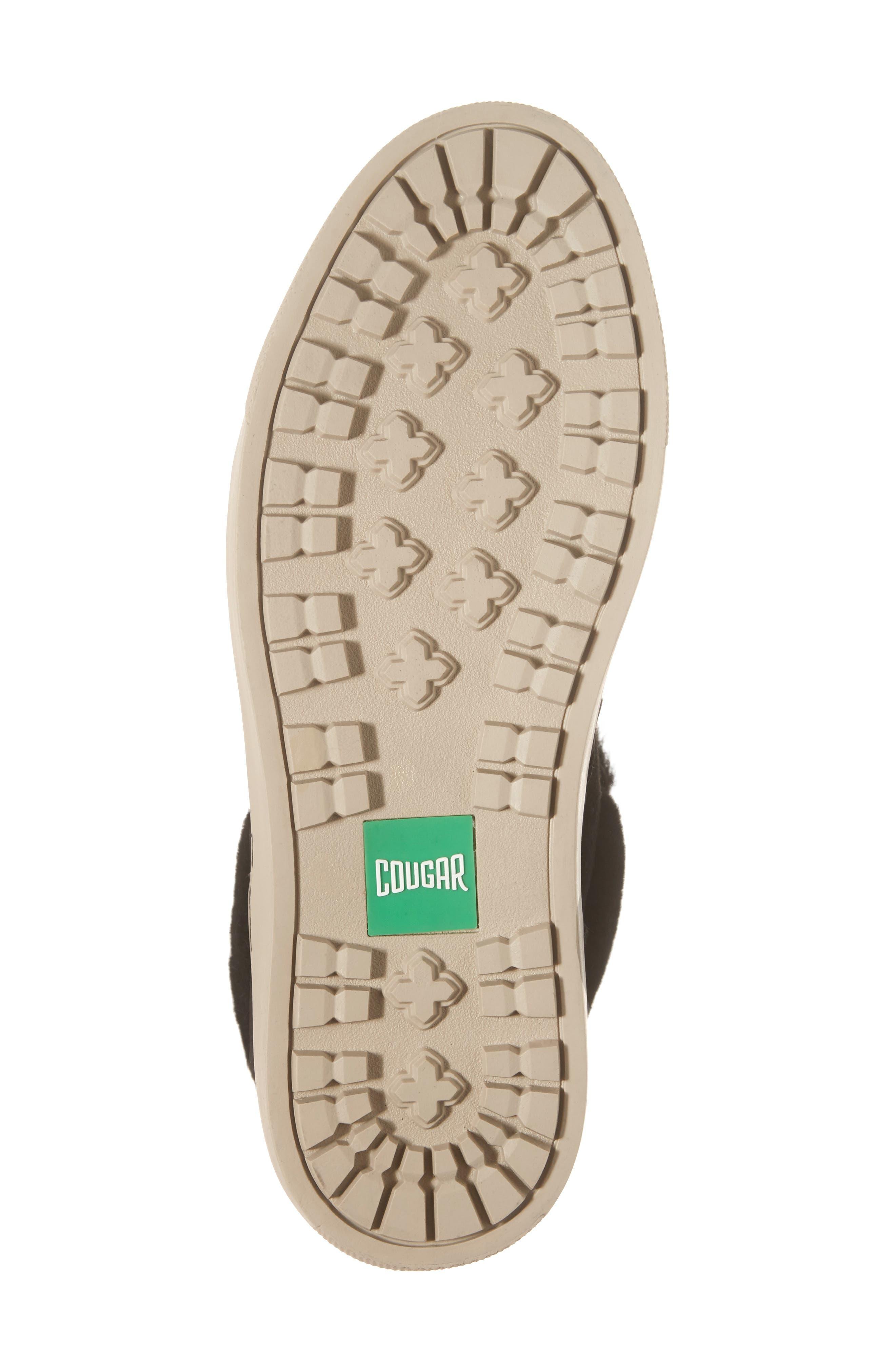 Downey Waterproof Genuine Shearling Sneaker,                             Alternate thumbnail 6, color,                             Black Suede