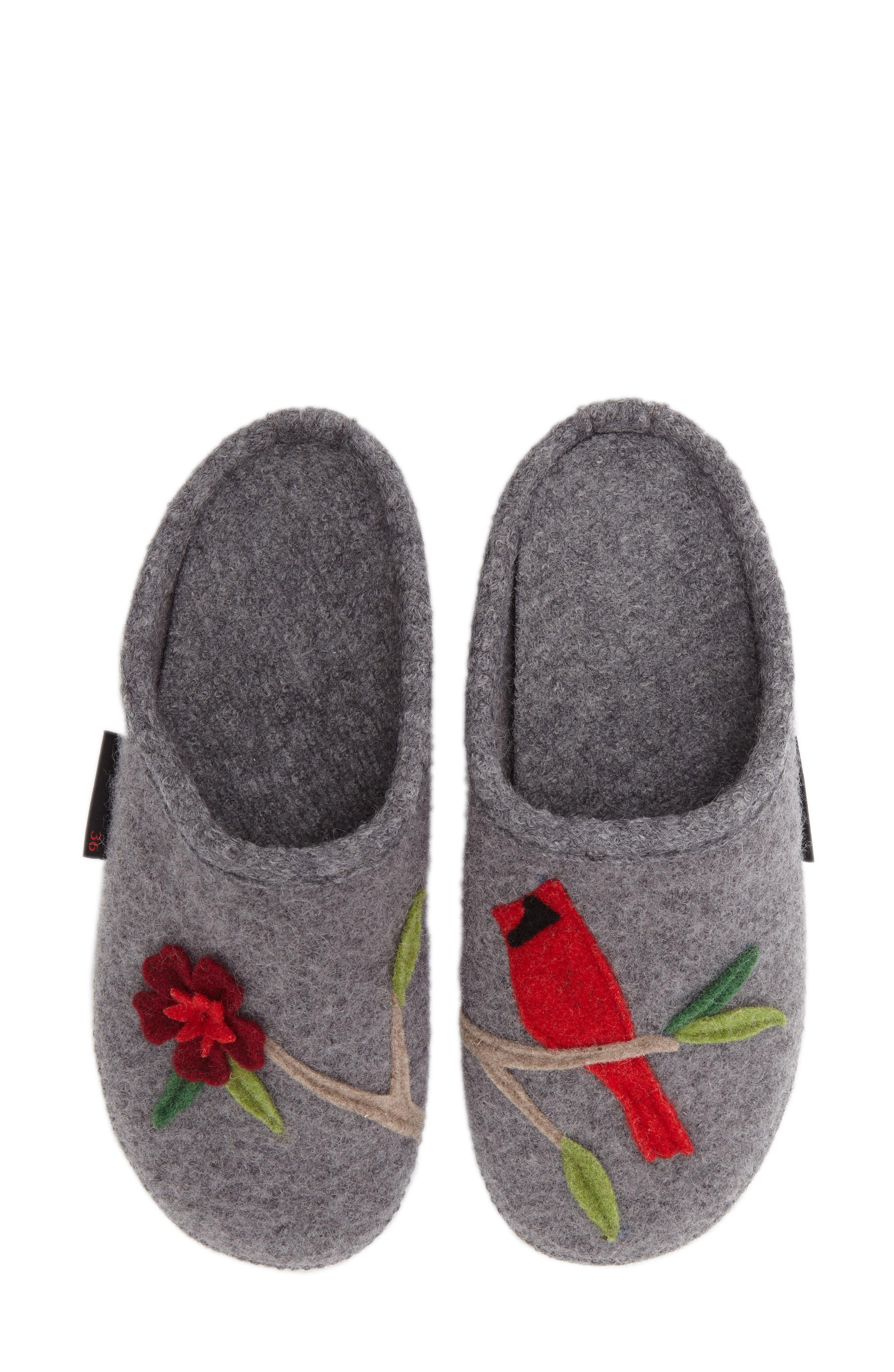'Angela' Wool Slipper,                         Main,                         color, Slate Wool