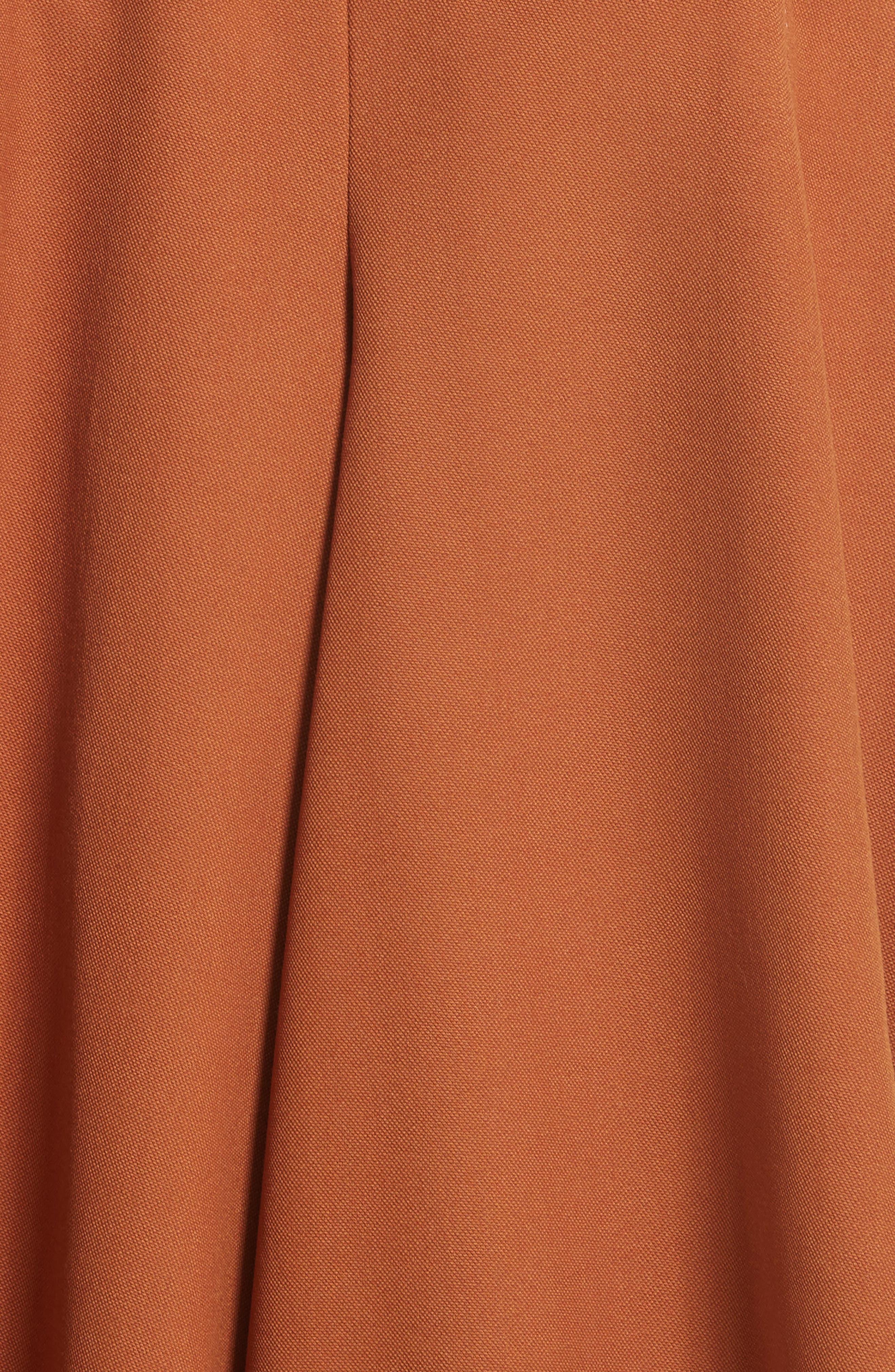 Wool Jumpsuit,                             Alternate thumbnail 4, color,                             Brown
