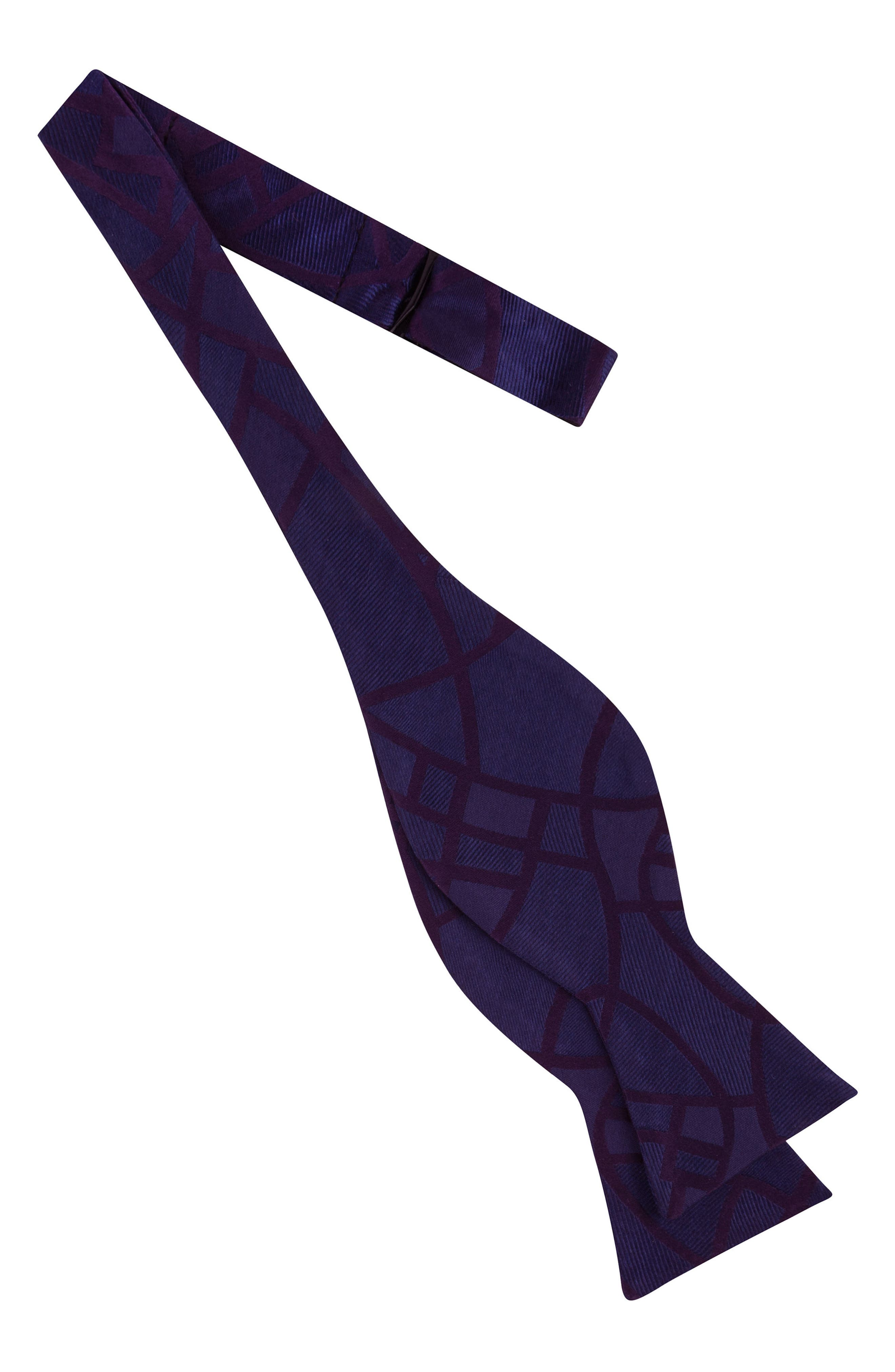 Delicate Abstract Silk Bow Tie,                             Alternate thumbnail 2, color,                             Plum