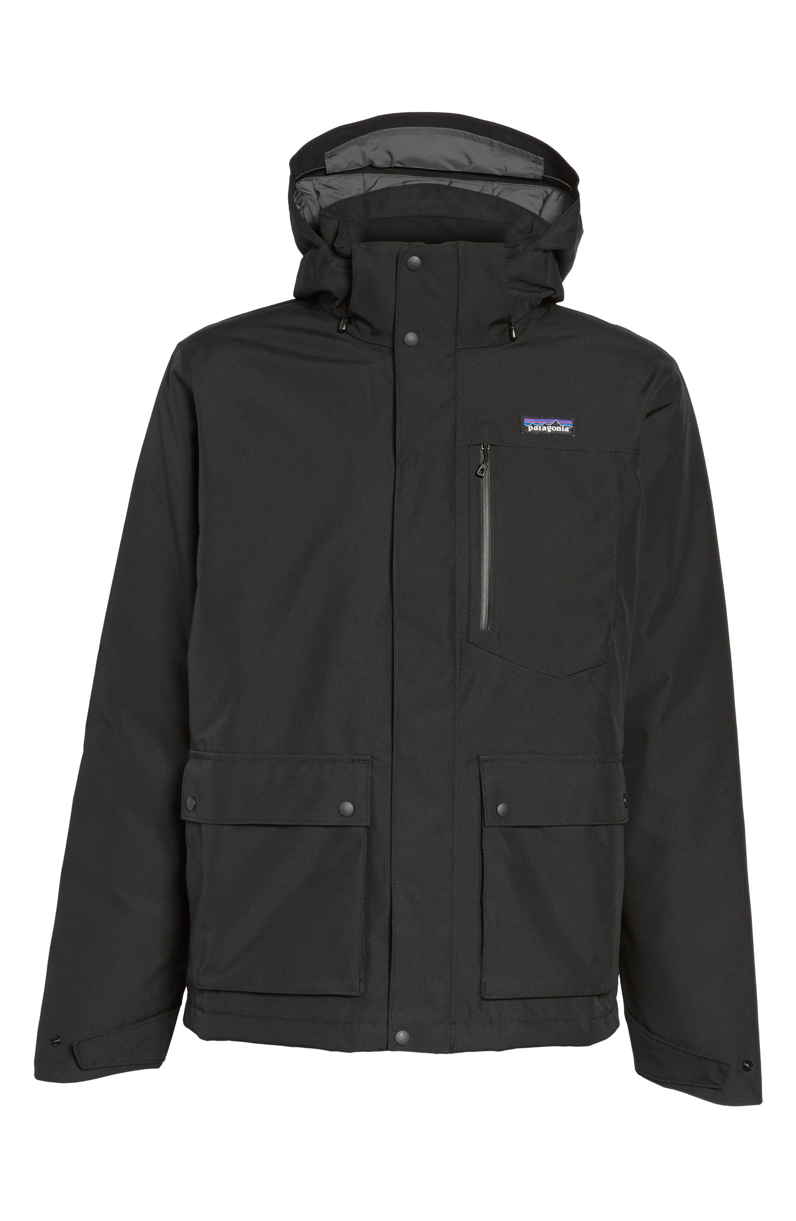 Topley Waterproof Down Jacket,                             Alternate thumbnail 6, color,                             Black