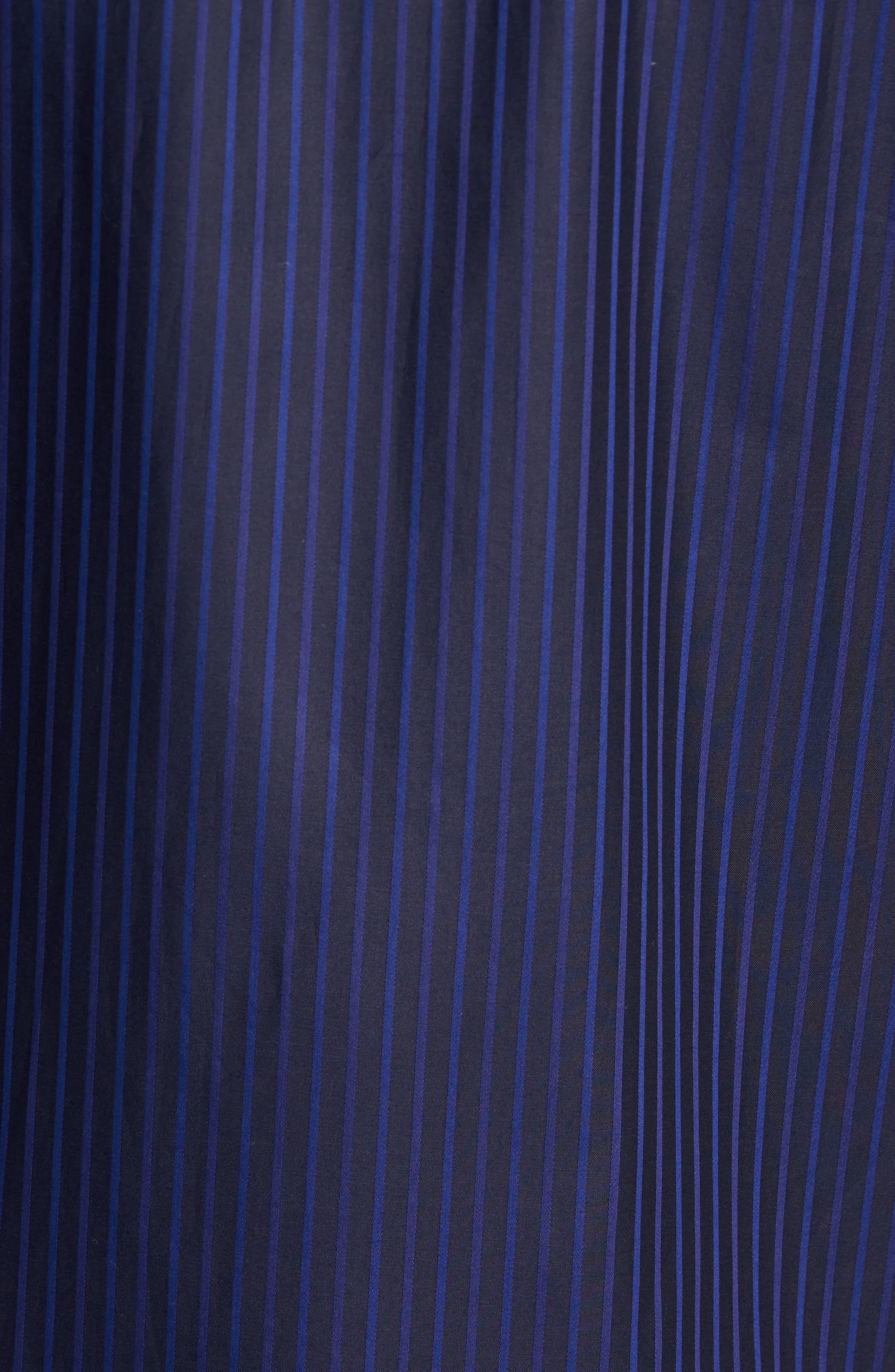 Classic Fit Stripe Sport Shirt,                             Alternate thumbnail 5, color,                             Night Blue