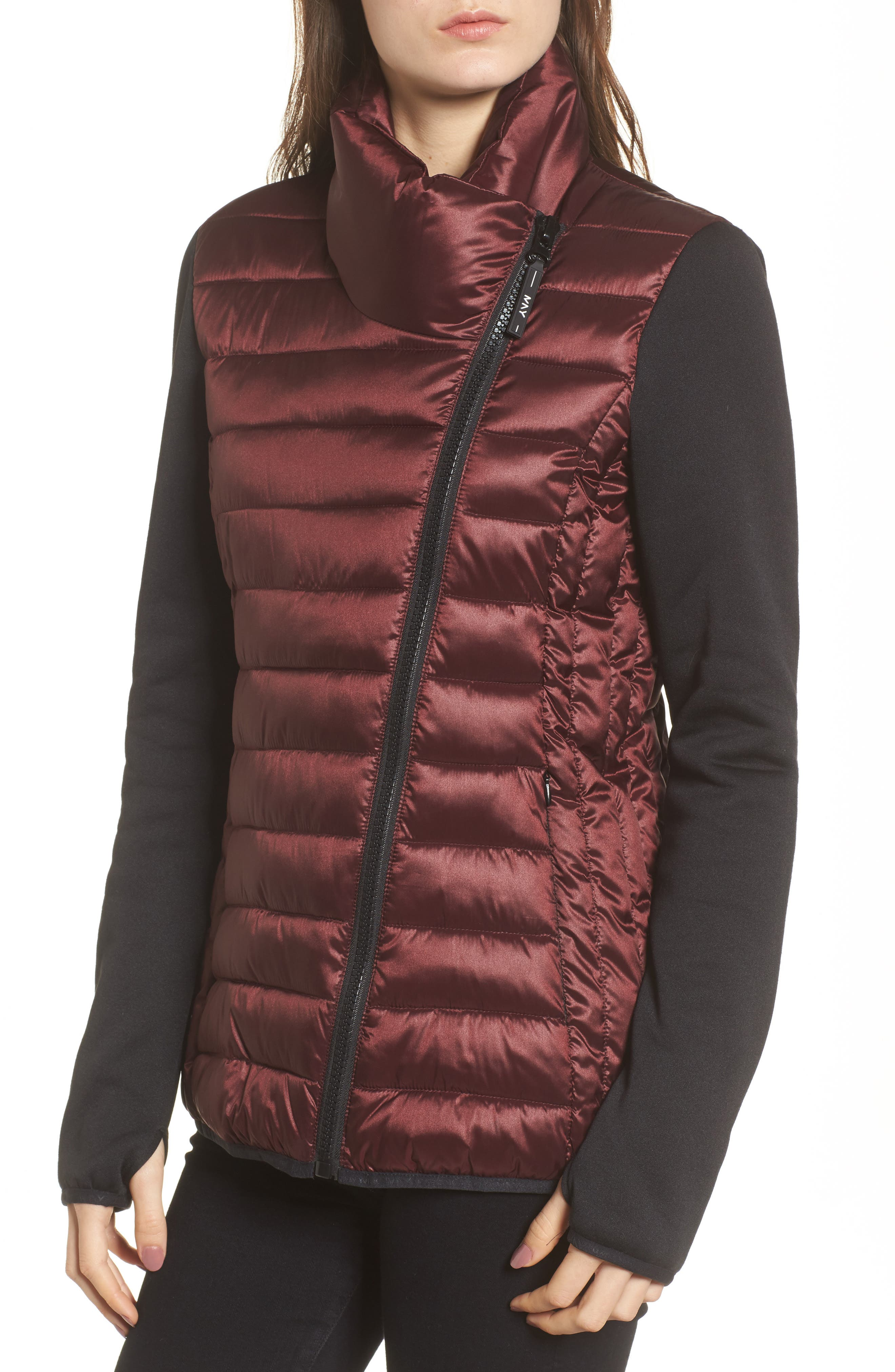 Alternate Image 4  - Marc New York Knit Sleeve Packable Puffer Jacket