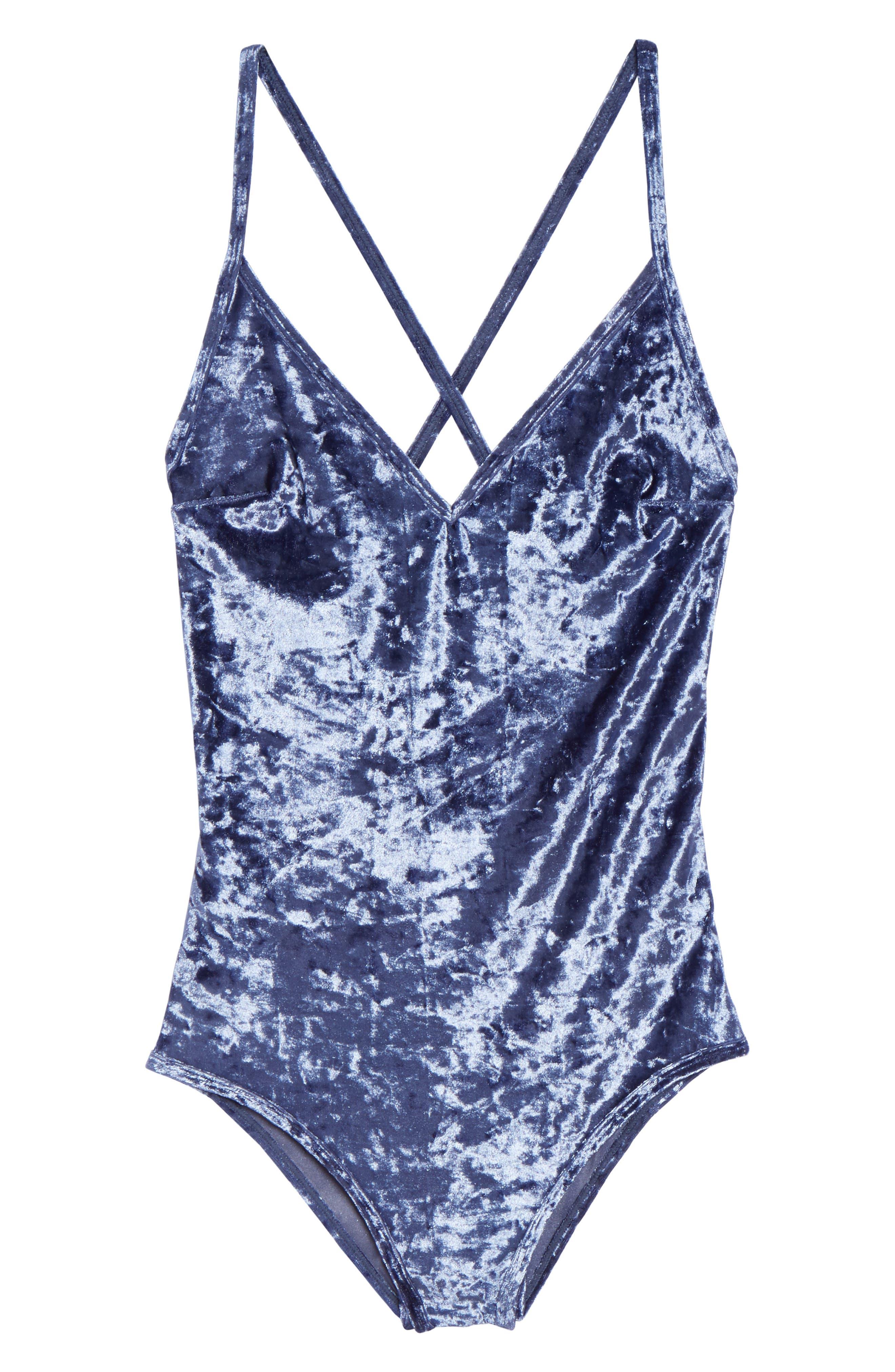 Alternate Image 4  - Sam Edelman Crushed Velvet Bodysuit