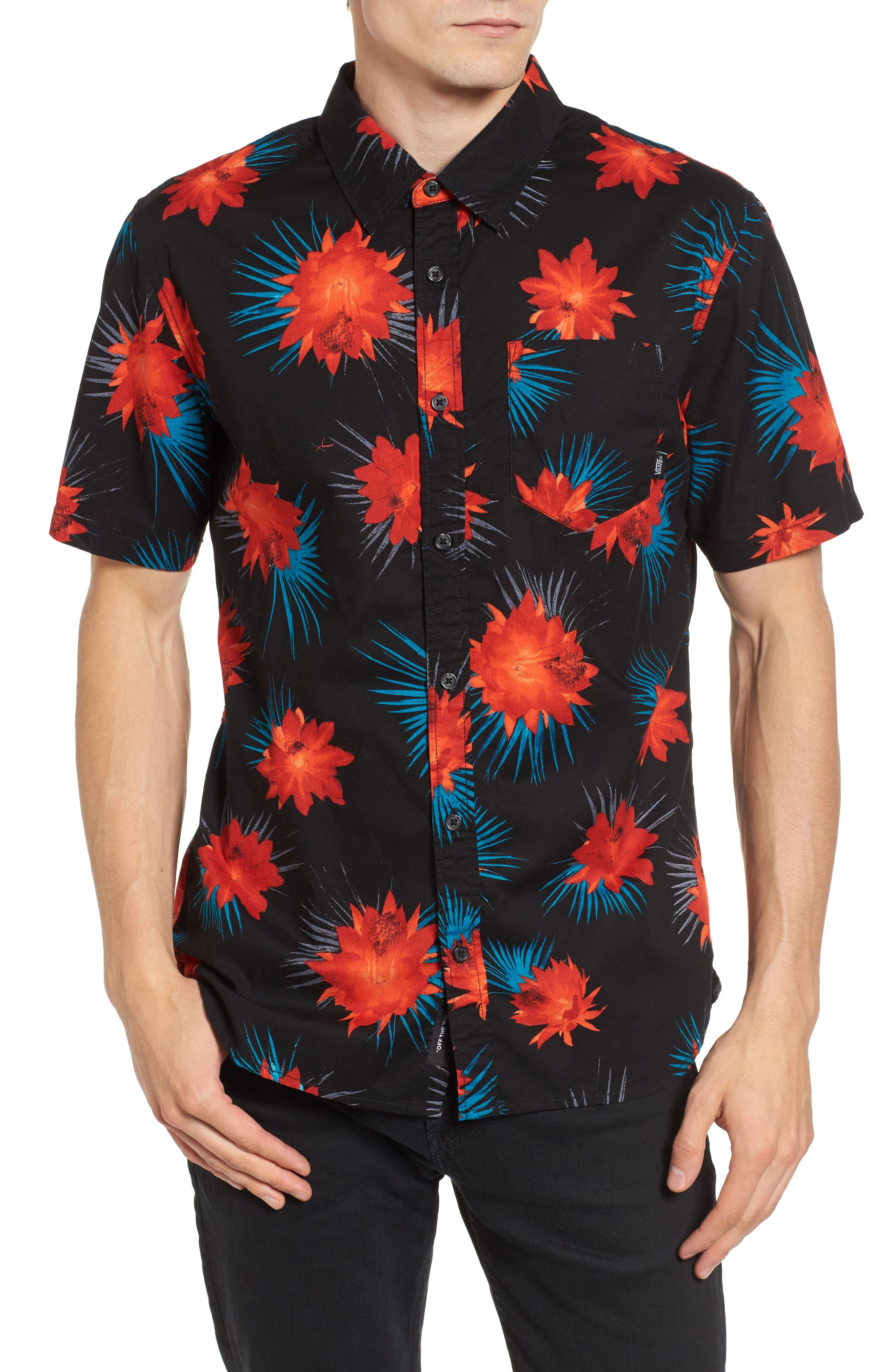 Cultivar Woven Shirt,                             Main thumbnail 1, color,                             Cactus Floral