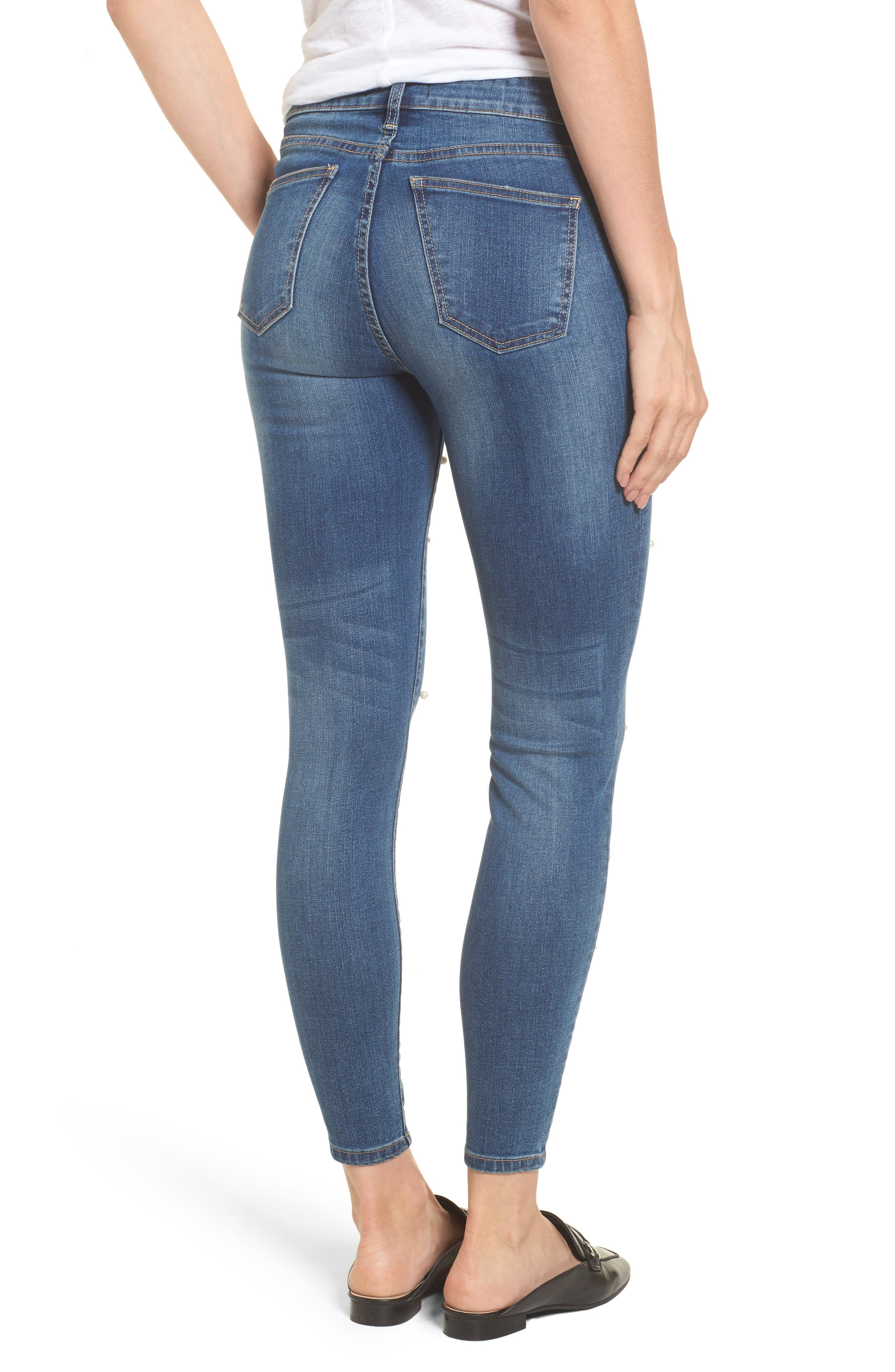 Brigitte Ankle Skinny Jeans,                             Alternate thumbnail 3, color,                             Bewitching/ Dark Stone