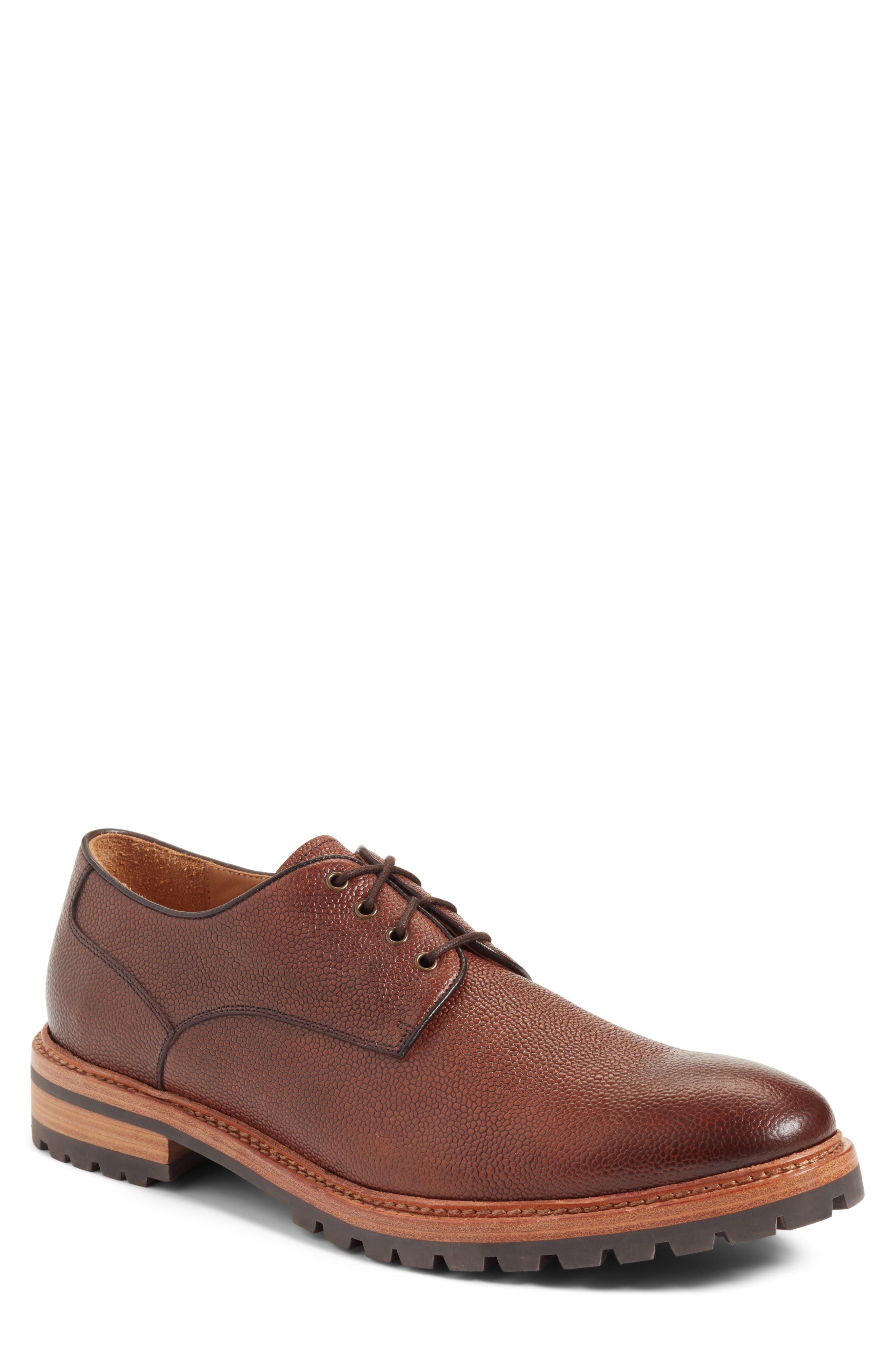 John W. Nordstrom® Salvaro Plain Toe Derby (Men)