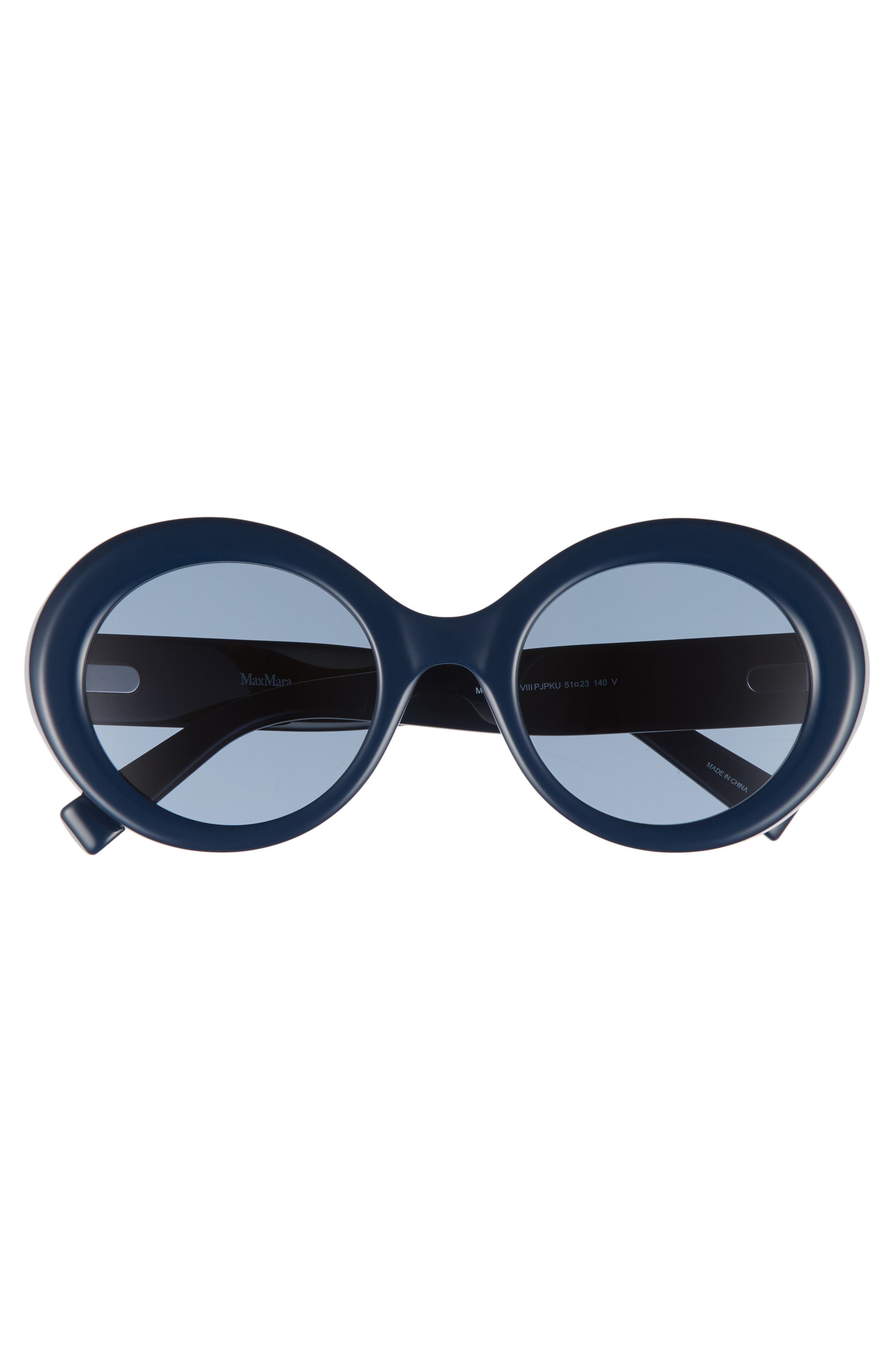 Prism VIII 51mm Oval Sunglasses,                             Alternate thumbnail 3, color,                             Blue