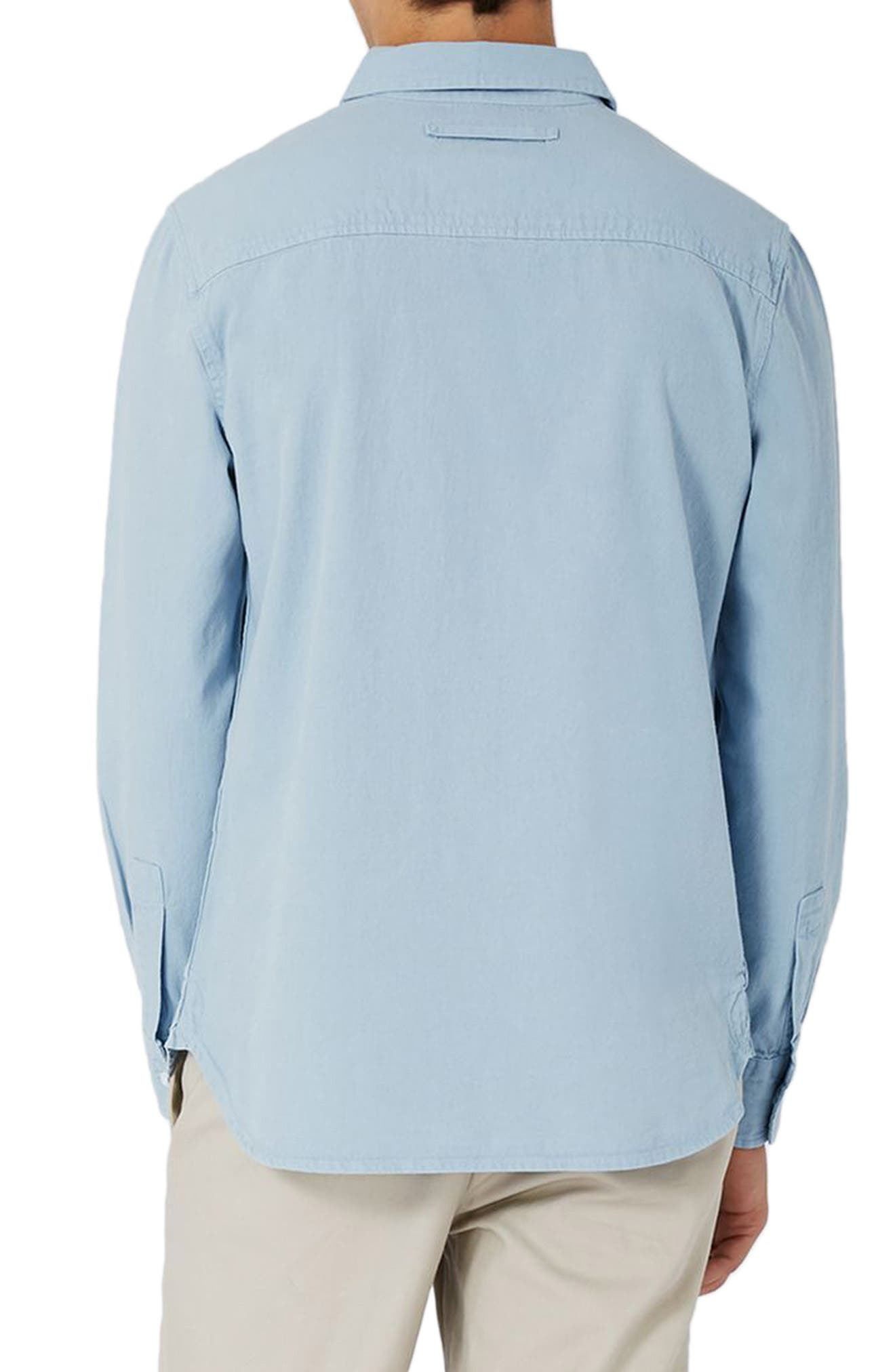 Alternate Image 3  - Topman Washed Twill Shirt